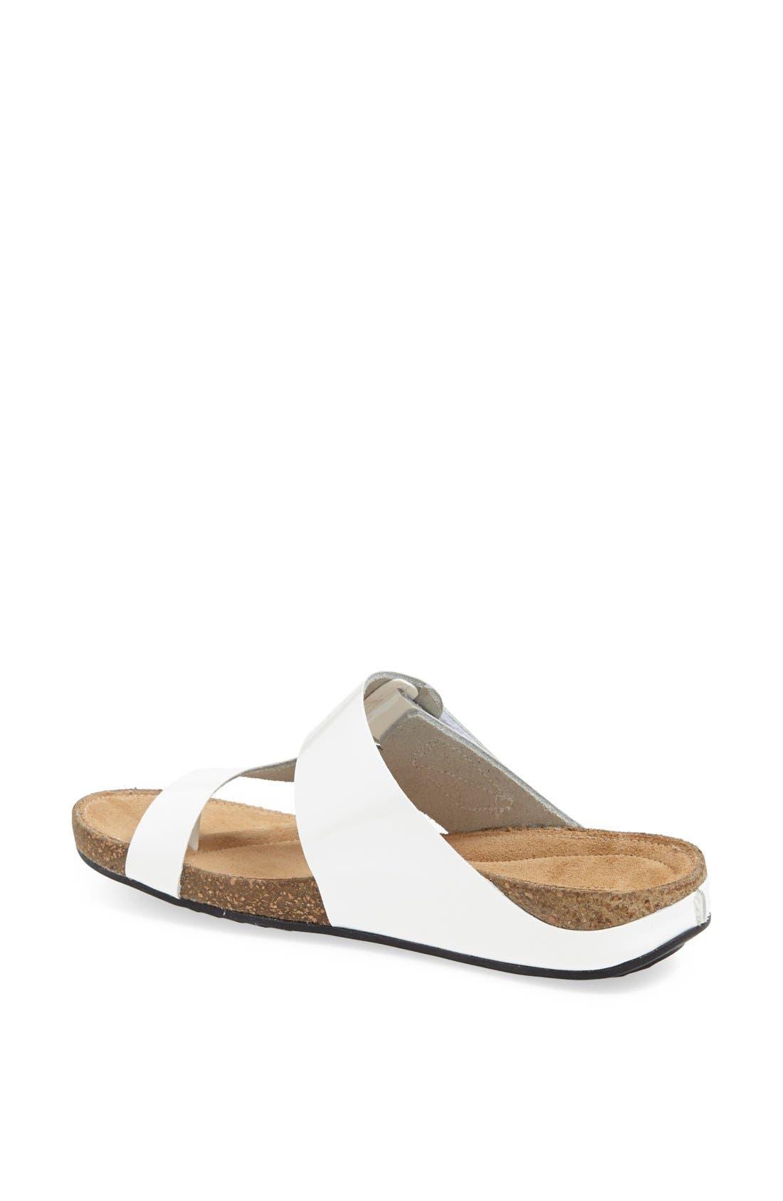 'Perri Coast' Leather Thong Sandal,                             Alternate thumbnail 2, color,                             White Patent