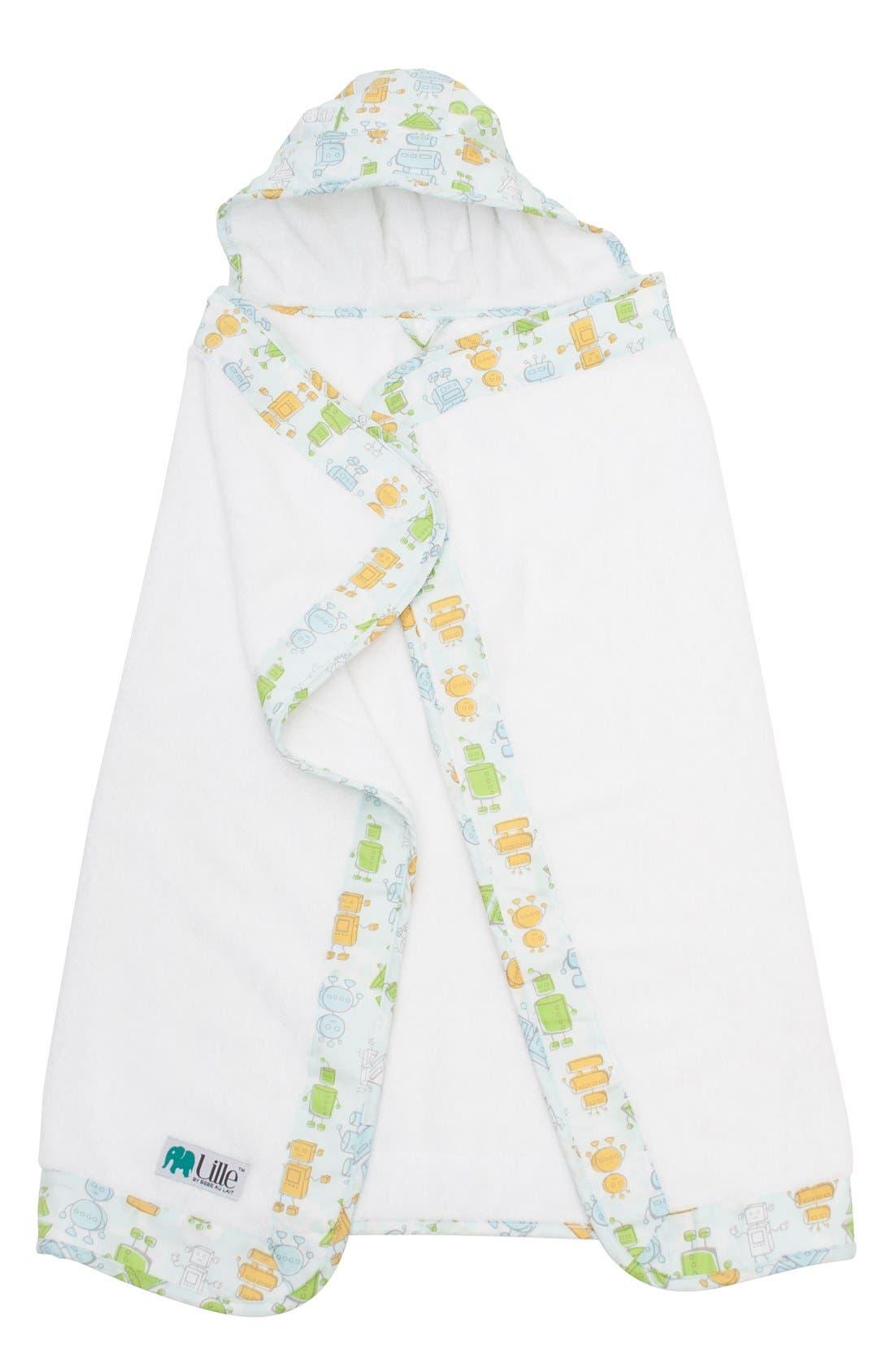 Main Image - Bébé au Lait Lille Hooded Terry Towel (Baby)