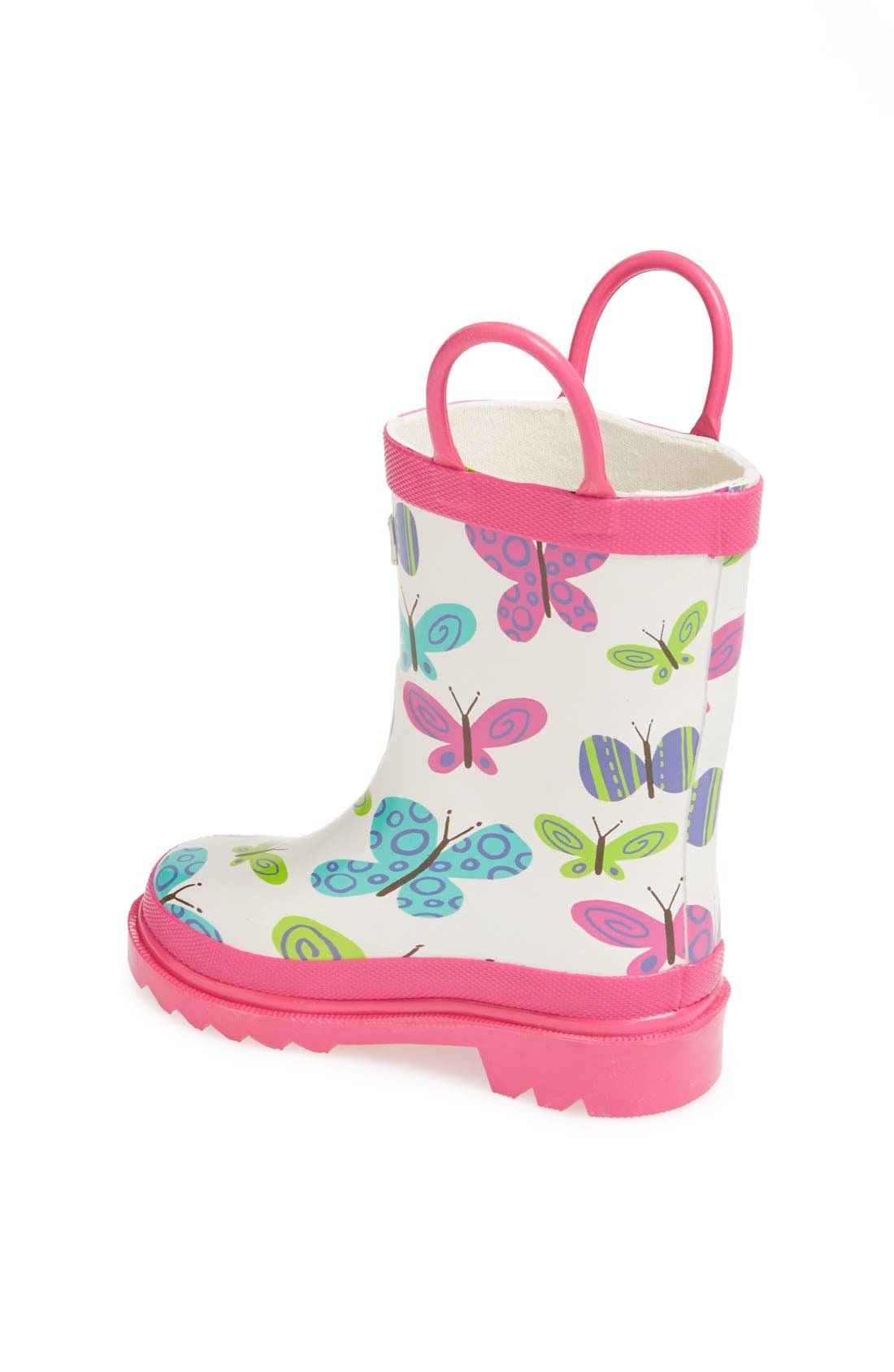 Alternate Image 2  - Hatley 'Ditsy Butterflies' Rain Boot (Walker & Toddler)