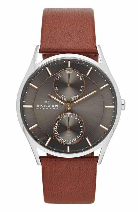 mens men holst multifunction watch skagen nordstrom brown for leather watches c strap
