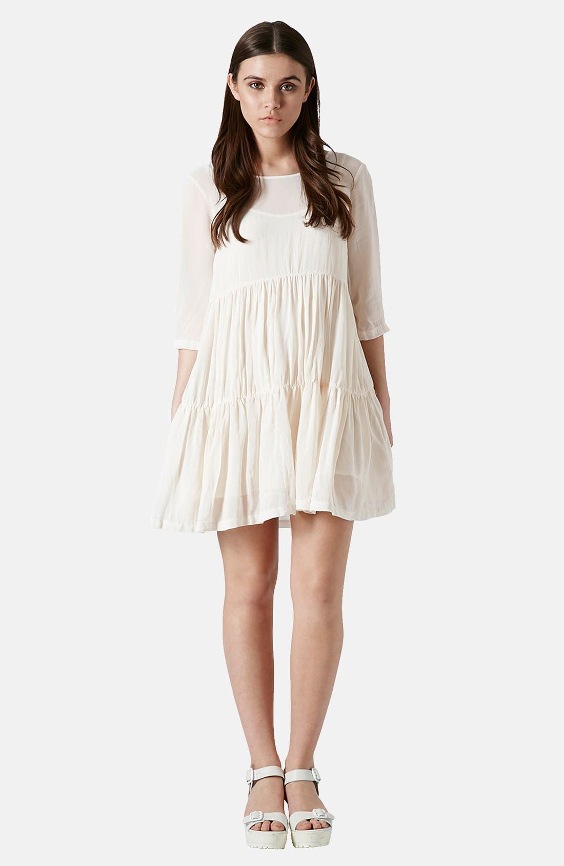 Alternate Image 5  - Topshop Chiffon Tiered Smock Dress