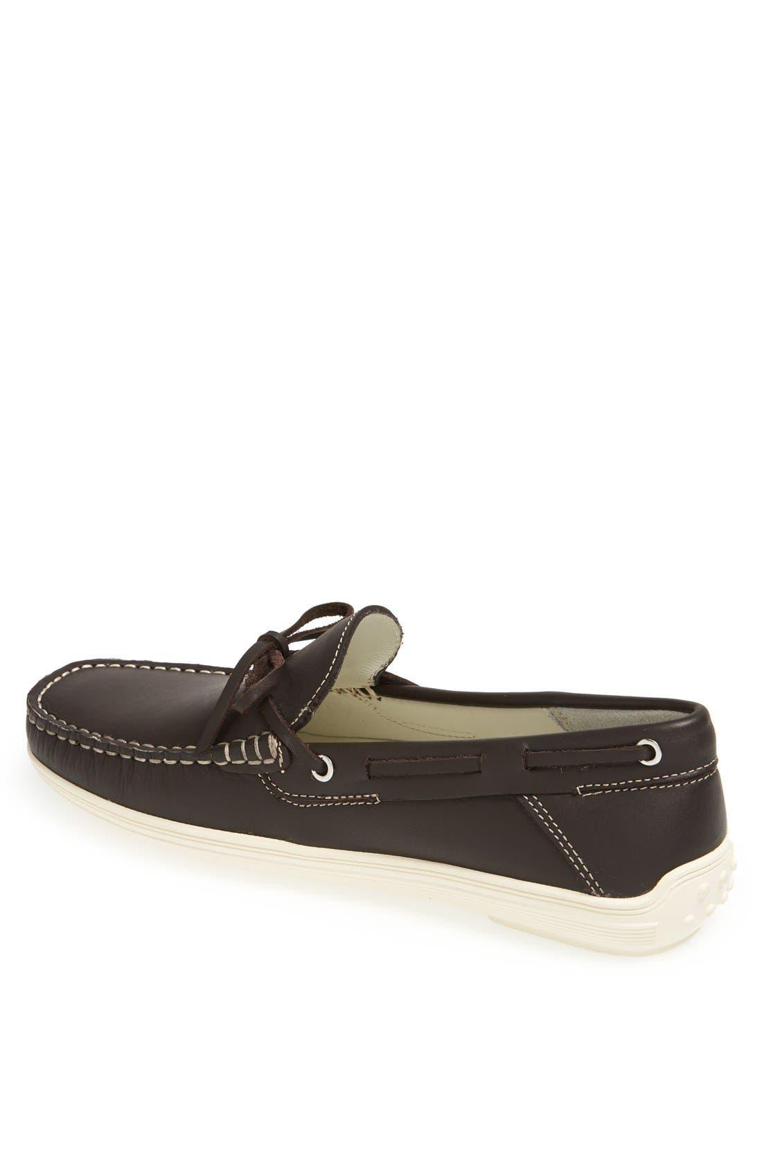 'Bonaire' Driving Shoe,                             Alternate thumbnail 2, color,                             Dark Brown