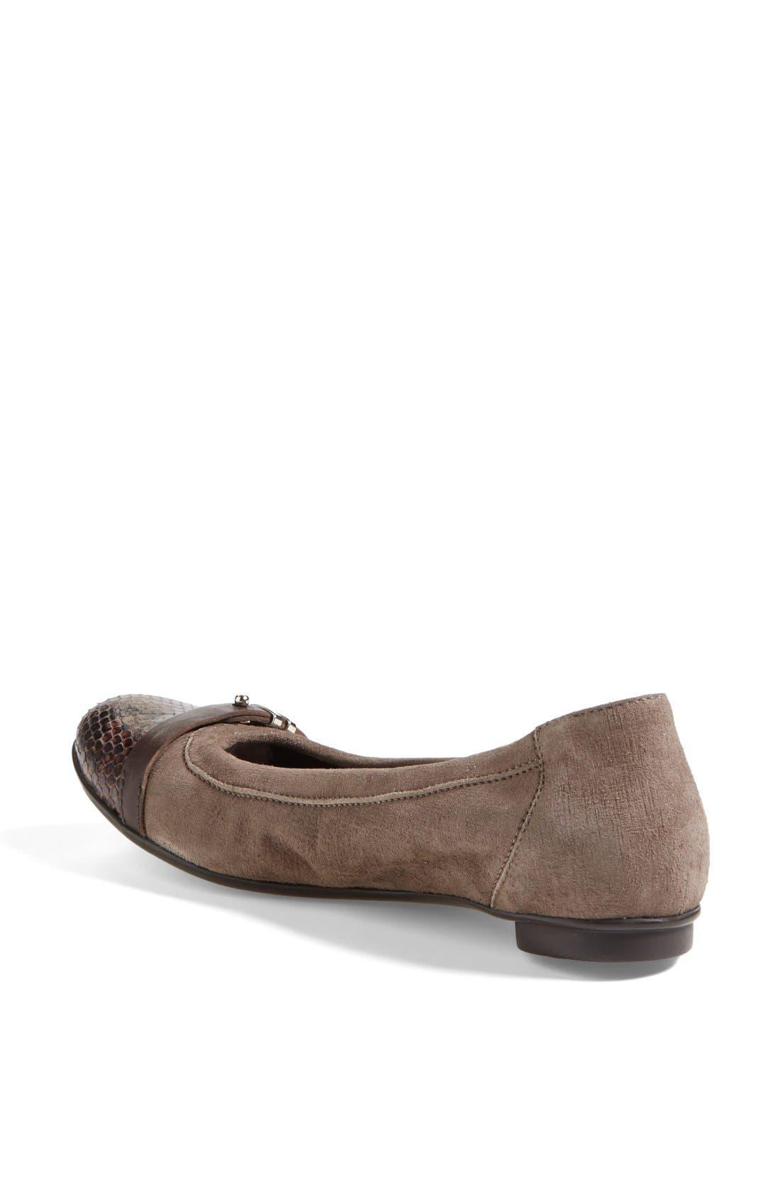 Alternate Image 2  - Attilio Giusti Leombruni 'Bella' Patent & Nappa Leather Ballet Flat