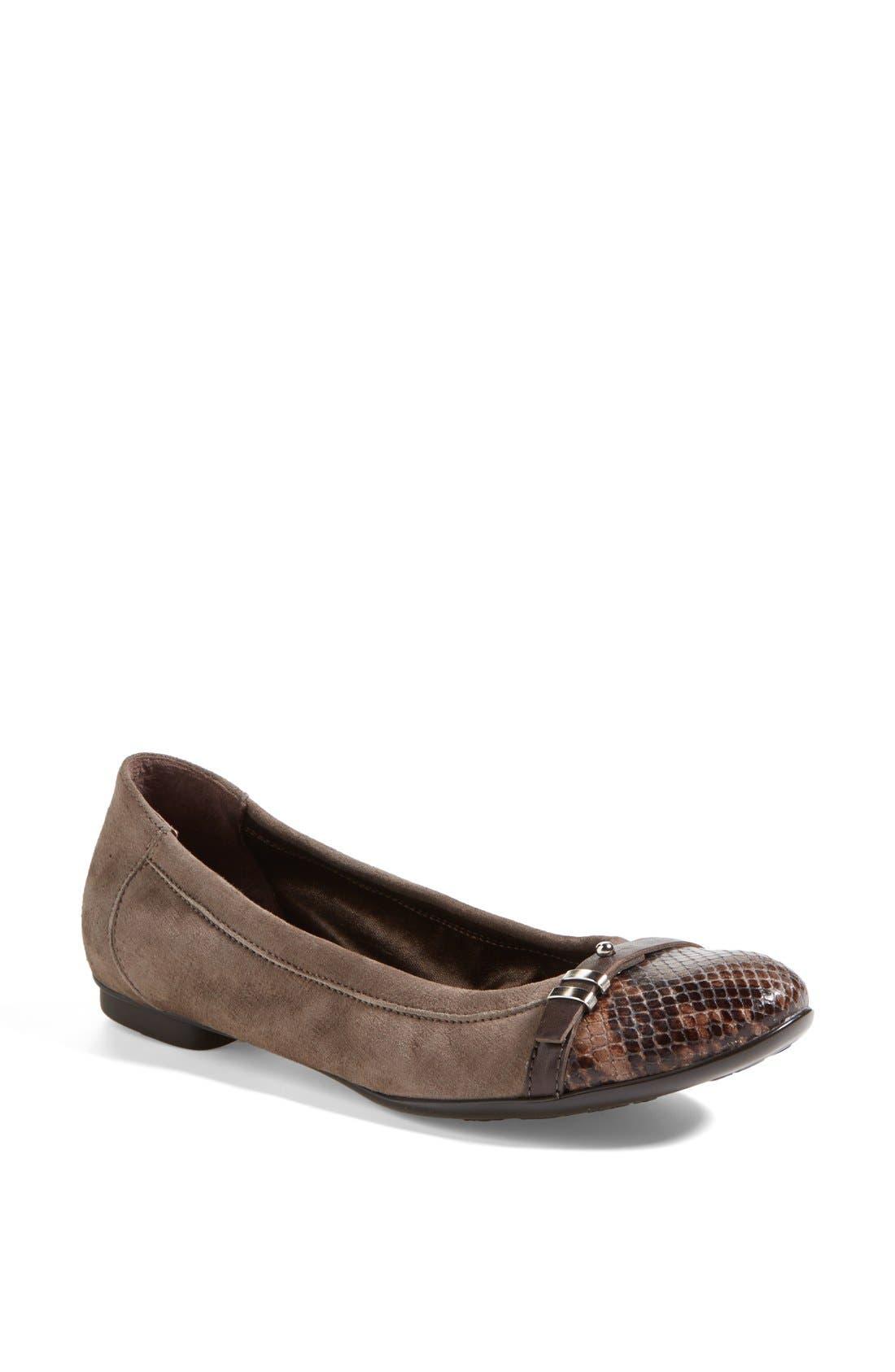 Alternate Image 1 Selected - Attilio Giusti Leombruni 'Bella' Patent & Nappa Leather Ballet Flat