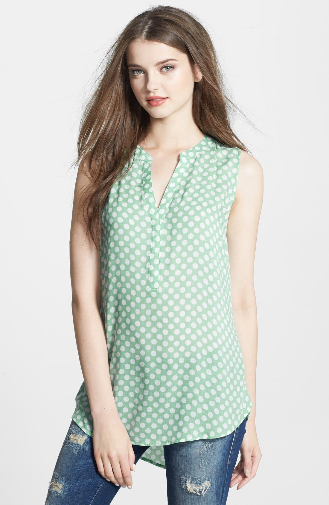 Main Image - Sandra Ingrish Sleeveless Dot Print Blouse