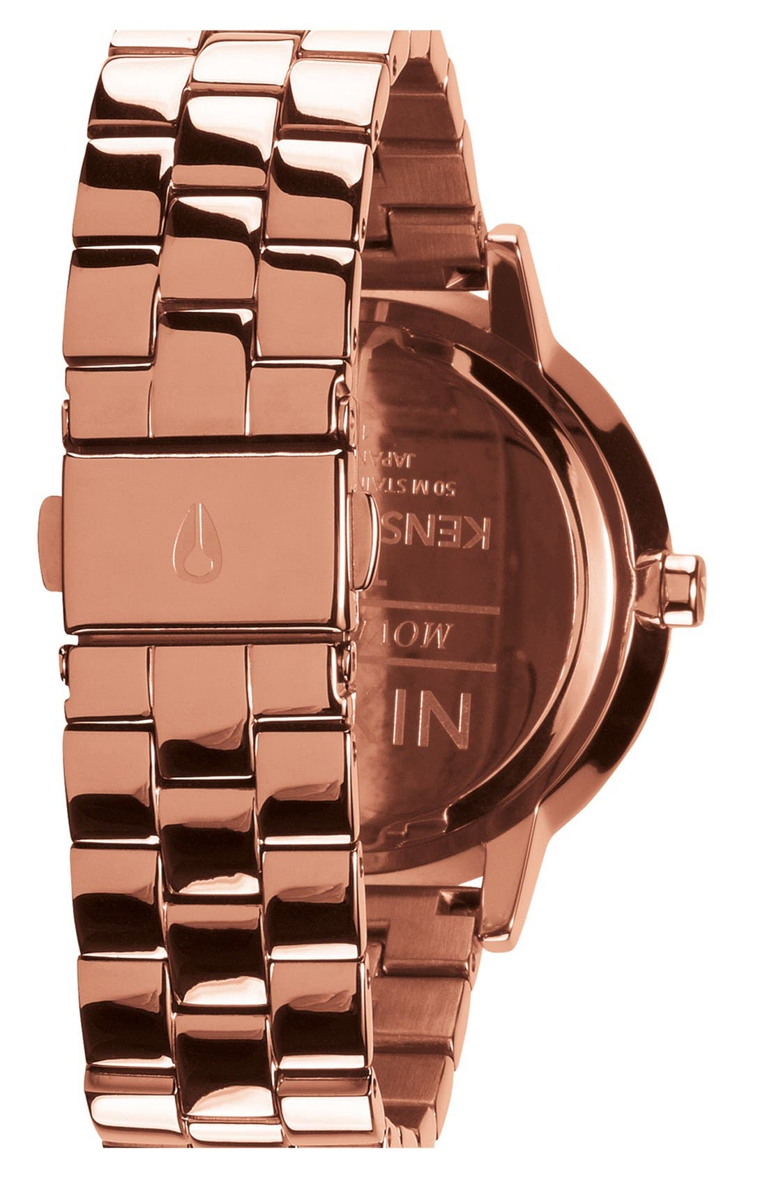 'The Kensington' Round Bracelet Watch, 37mm,                             Alternate thumbnail 2, color,                             Rose Gold