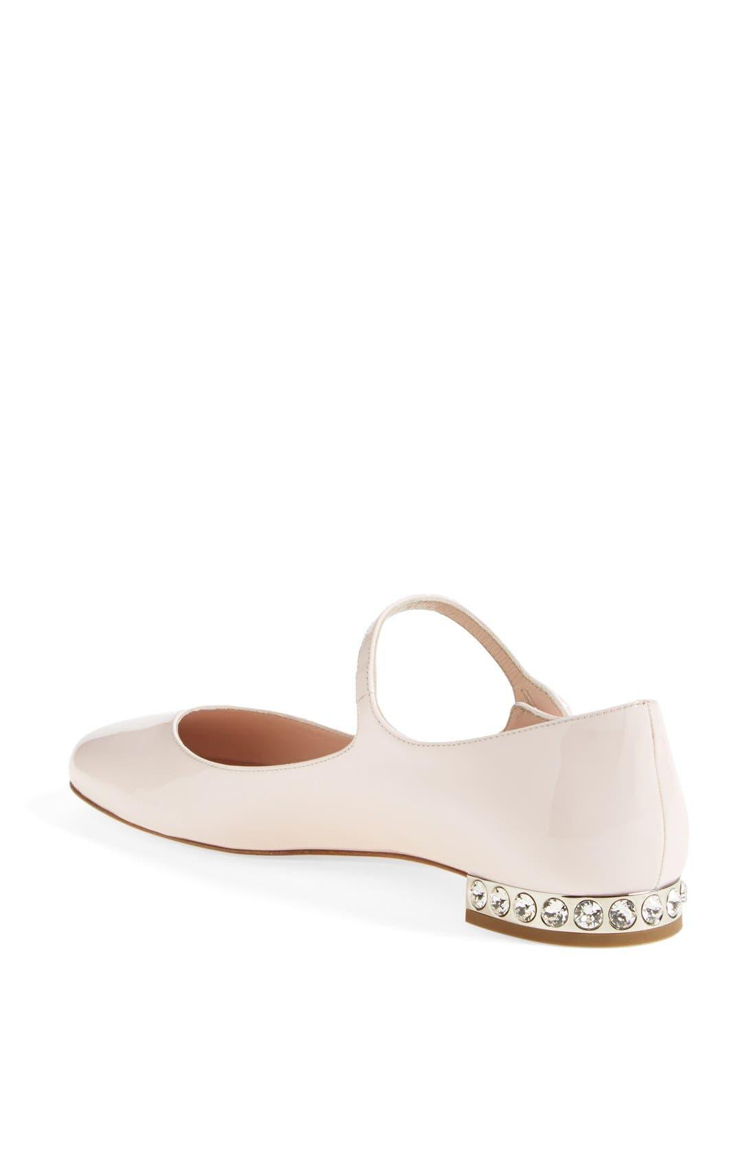 Alternate Image 2  - Miu Miu Jeweled Heel Mary Jane Flat