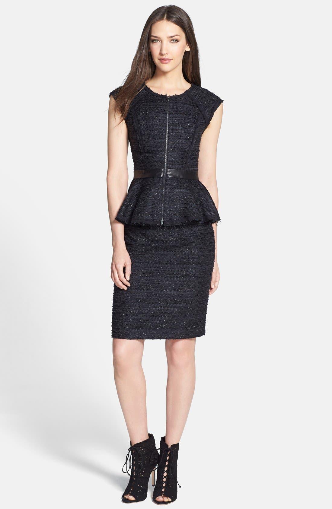 Alternate Image 4  - Milly Metallic Tweed & Leather Pencil Skirt