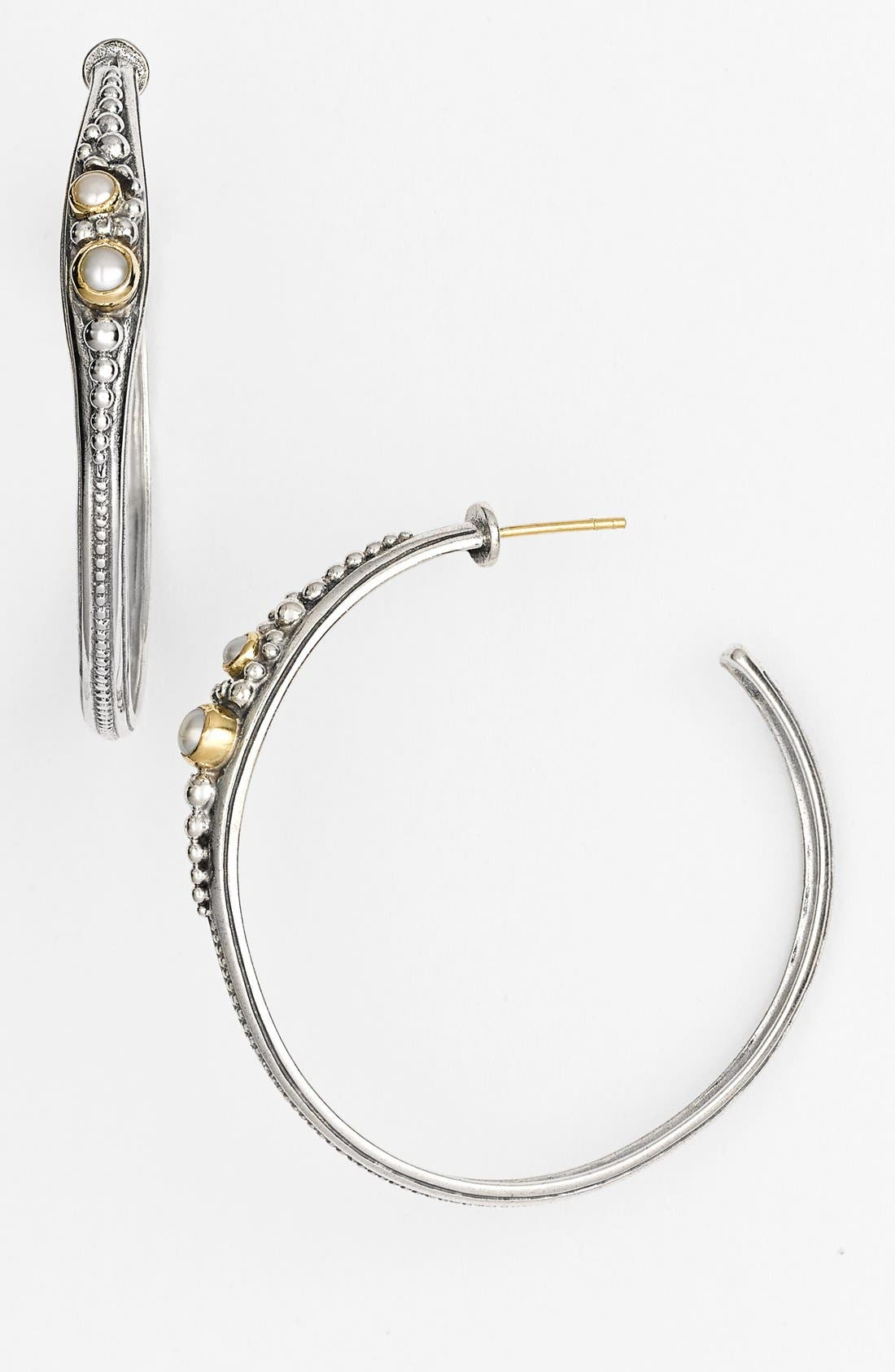 KONSTANTINO Classics Pearl Hoop Earrings