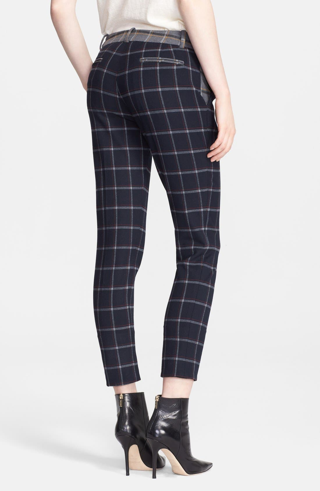 Alternate Image 2  - Band of Outsiders Plaid Crop Pants