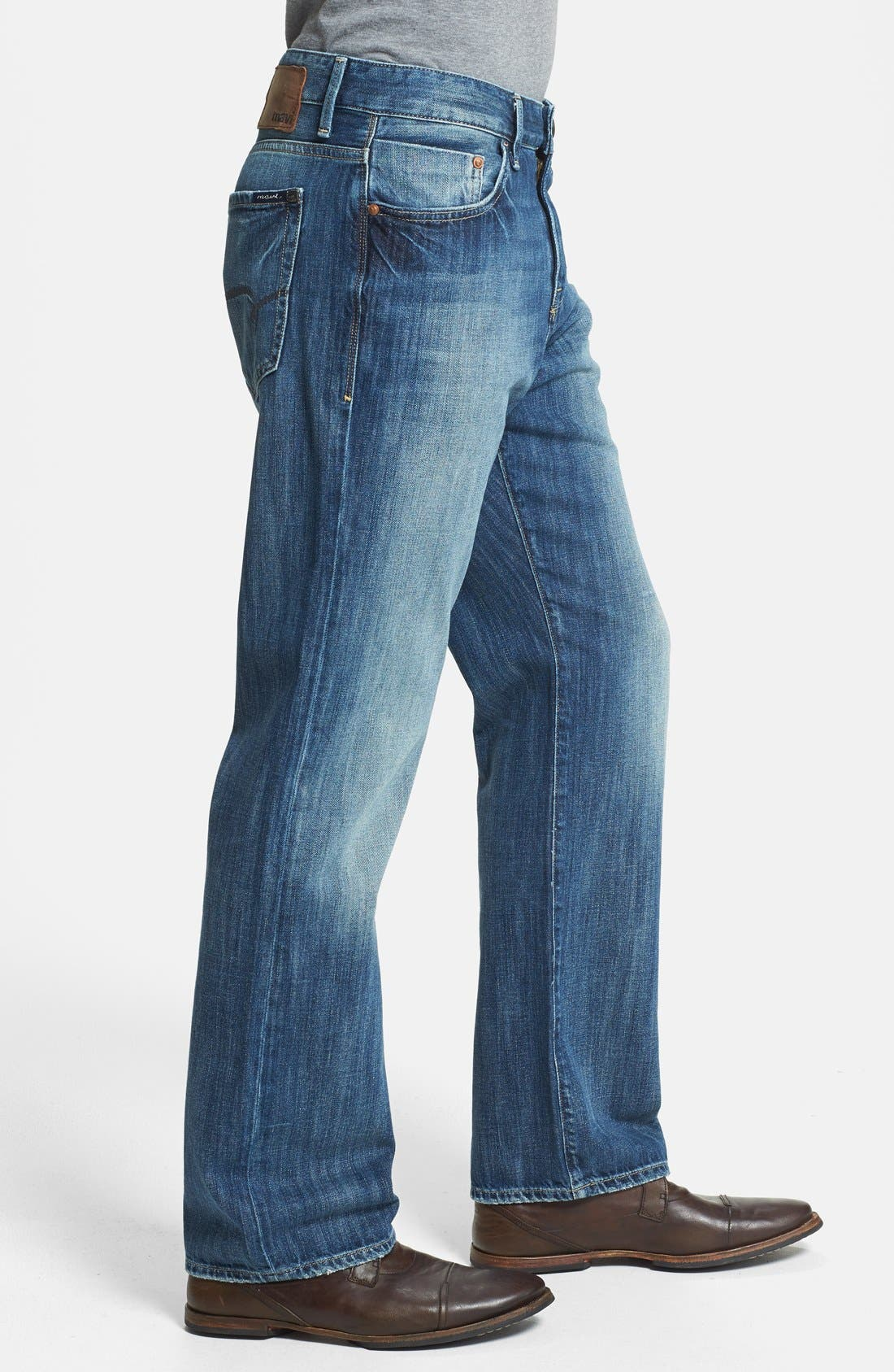 Alternate Image 3  - Mavi Jeans 'Matt' Relaxed Straight Leg Jeans (Indigo Blue) (Online Only)