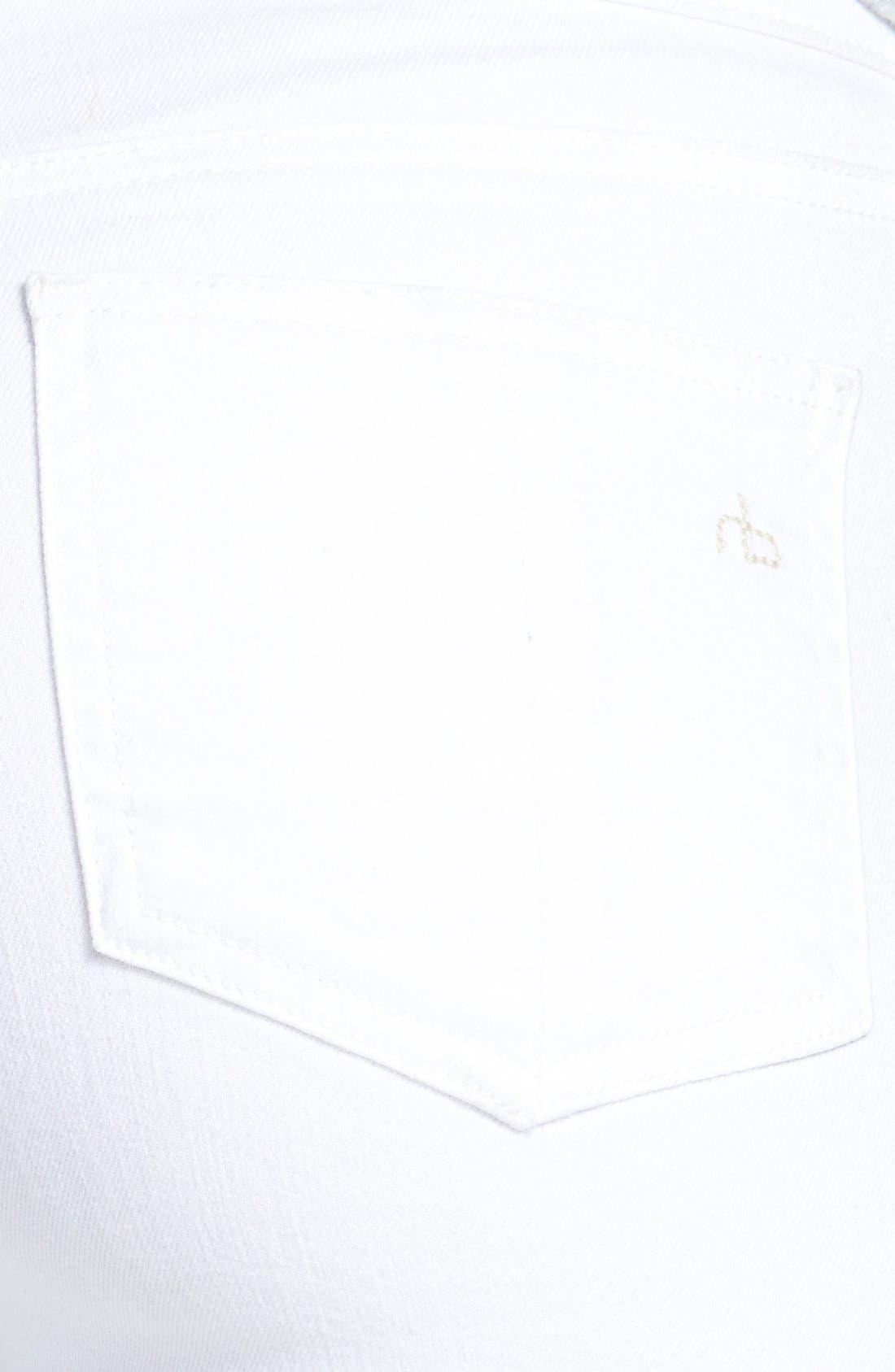 Alternate Image 3  - rag & bone/JEAN 'The Skinny' Crop Jeans (Bright White)