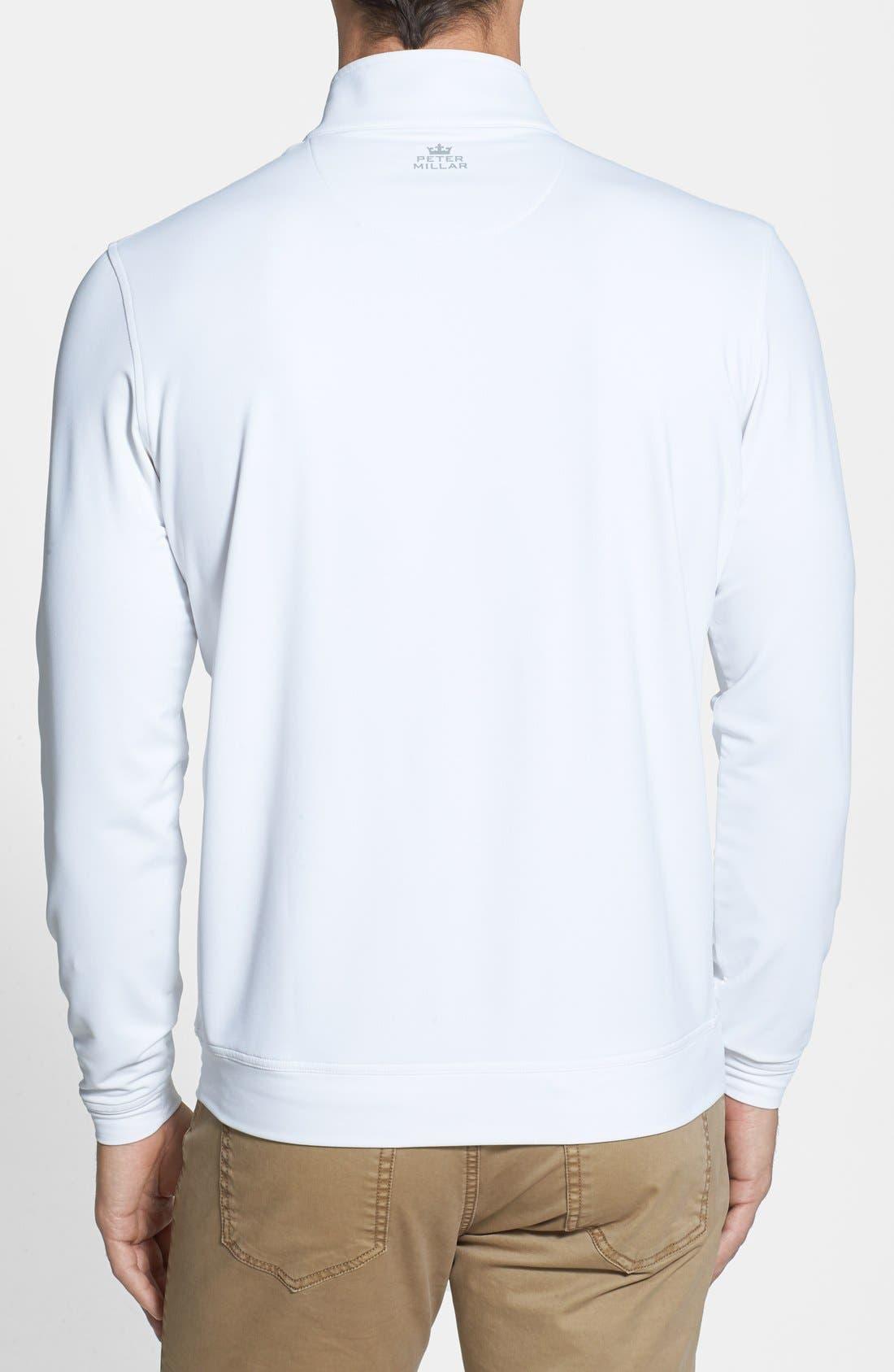 Alternate Image 2  - Peter Millar Moisture Wicking Stretch Quarter Zip Jacket