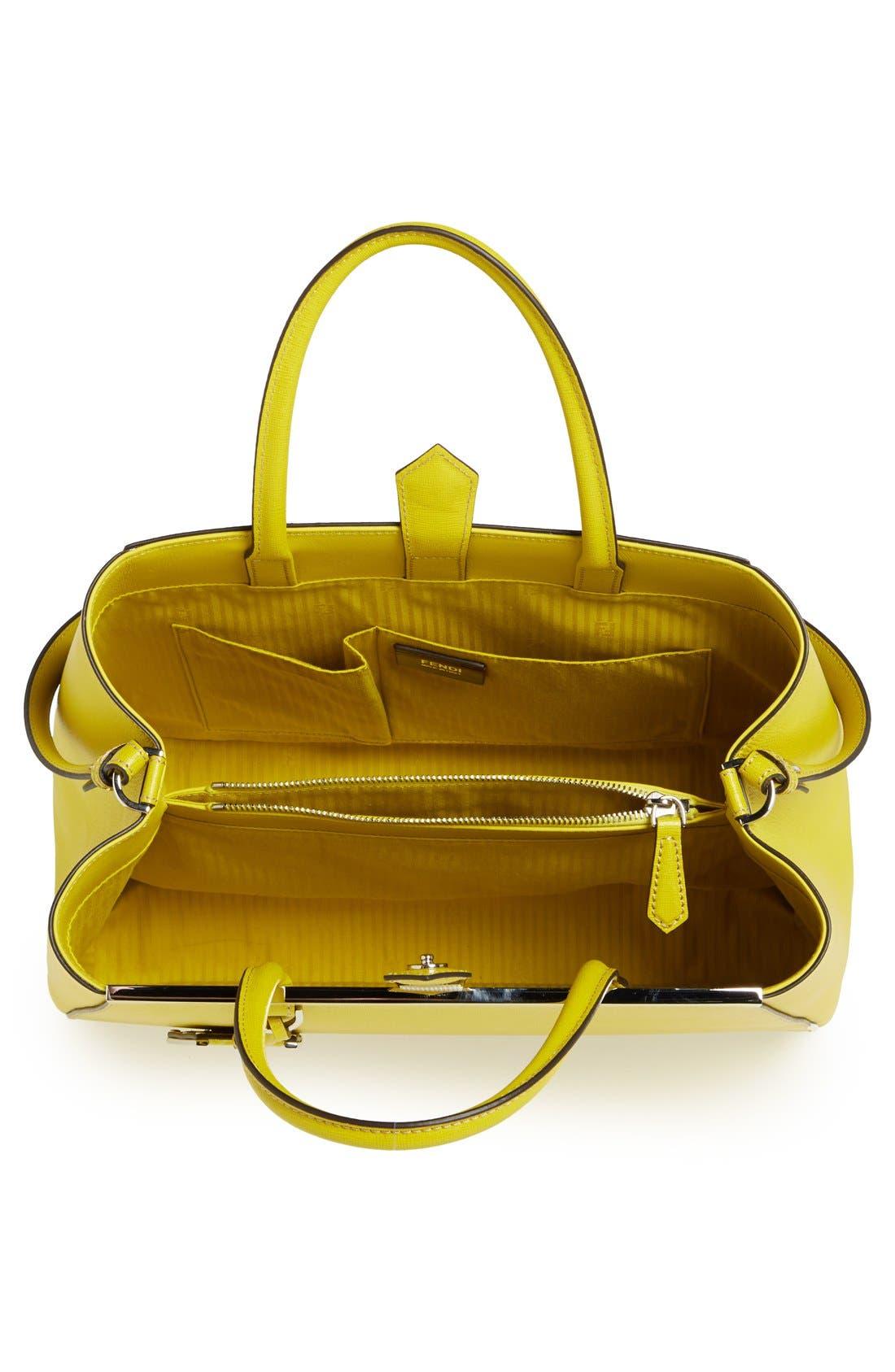 Alternate Image 4  - Fendi '2Jours Elite' Leather Shopper