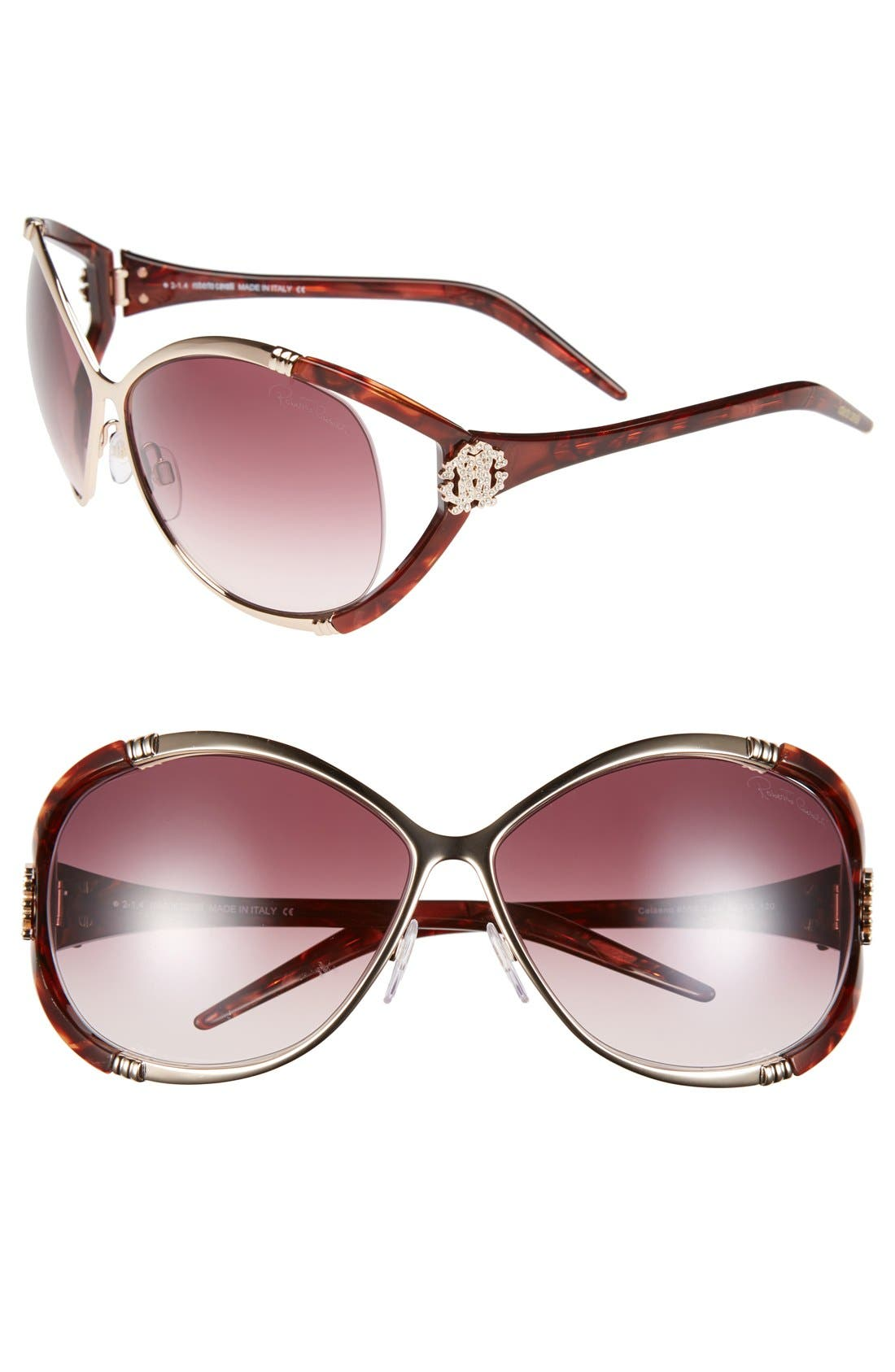 Alternate Image 1 Selected - Roberto Cavalli 'Celaeno - Glam Couture' 66mm Sunglasses