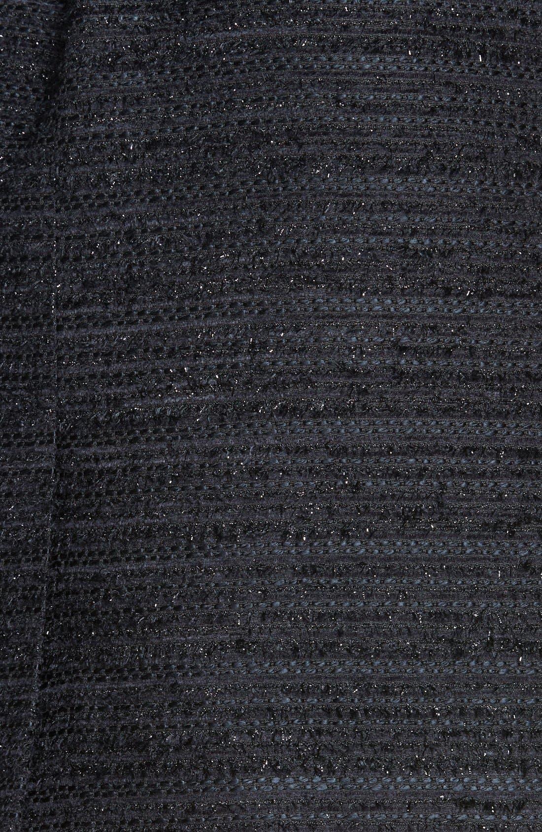 Alternate Image 3  - Milly Metallic Tweed & Leather Pencil Skirt