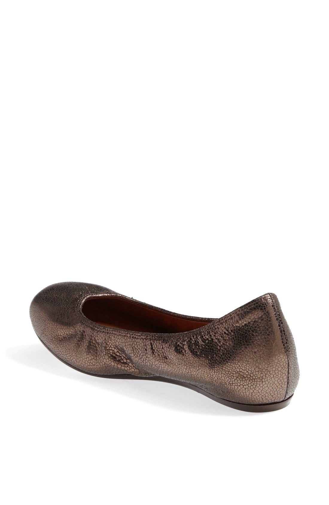 Alternate Image 2  - Lanvin Metallic Leather Ballerina Flat (Women)