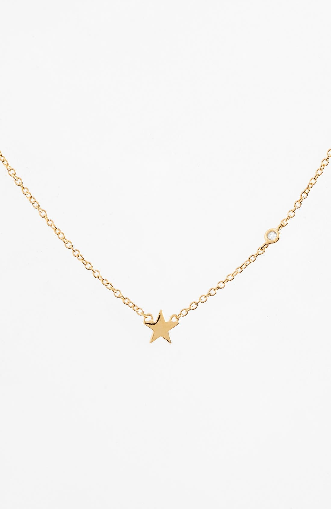 Shy by SE Star Necklace,                         Main,                         color, Gold
