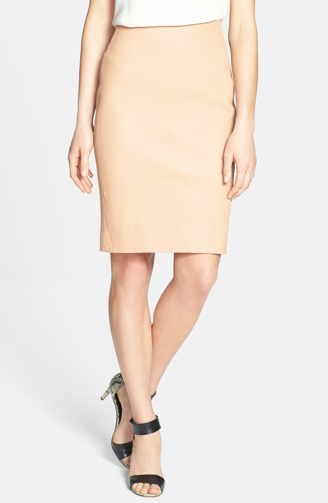 Main Image - Diane von Furstenberg 'Marta' Paneled Leather Skirt
