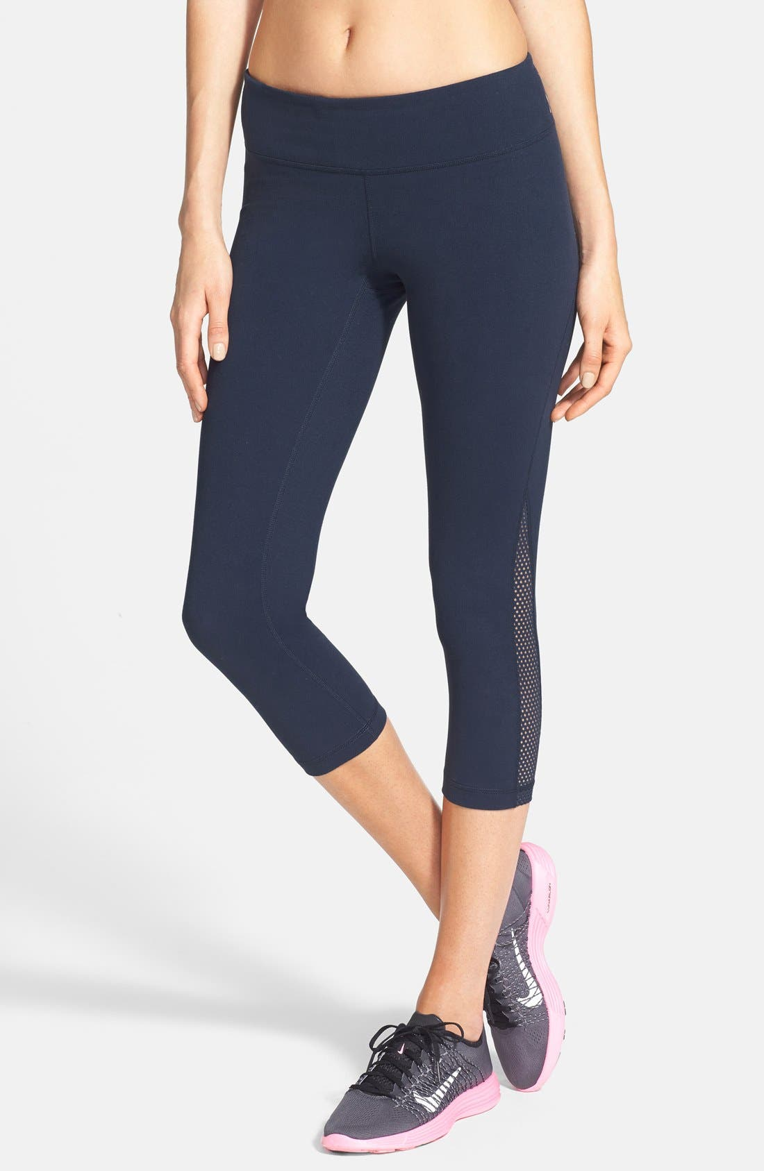 Alternate Image 1 Selected - Zella 'Live In - Streamline' Mesh Detail Capris