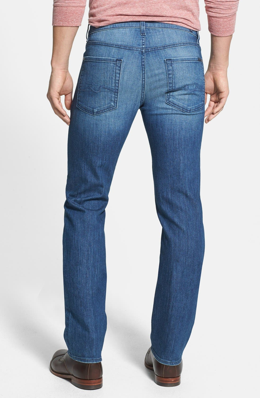 Alternate Image 2  - 7 For All Mankind® 'Slimmy' Slim Straight Leg Jeans (Delridge Indigo)