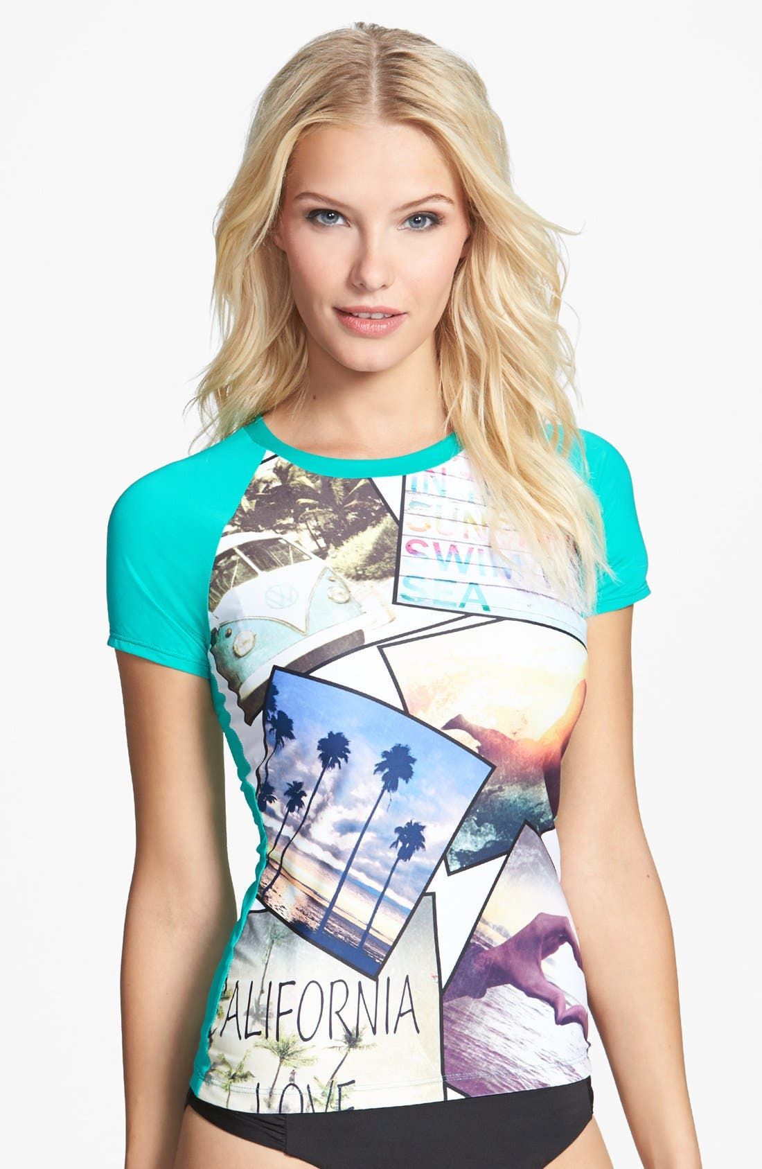 Alternate Image 1 Selected - W Swimwear 'California Love' Rashguard