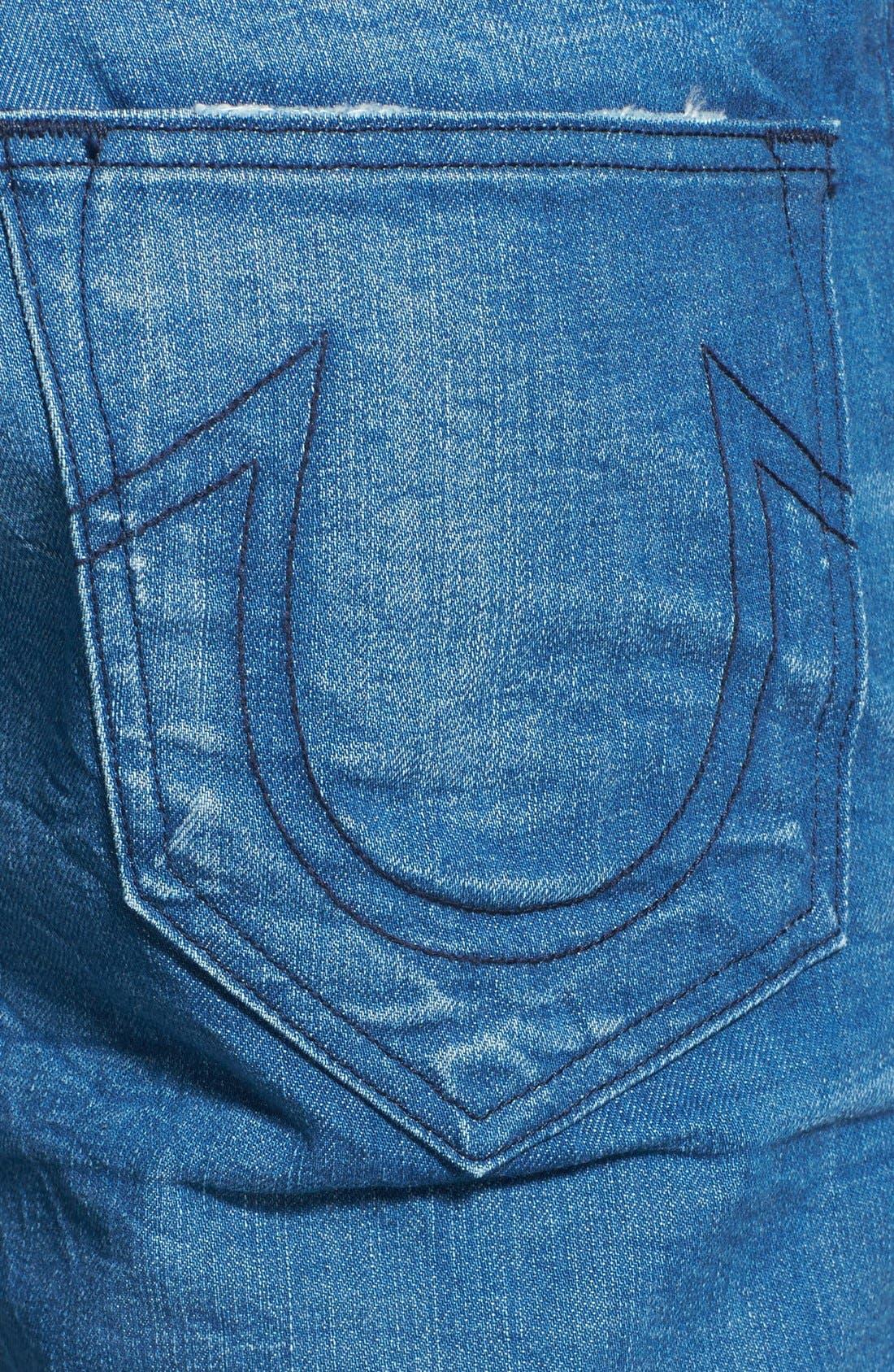 Alternate Image 4  - True Religion Brand Jeans 'Bobby' Straight Leg Jeans (Azql Blue Caps)
