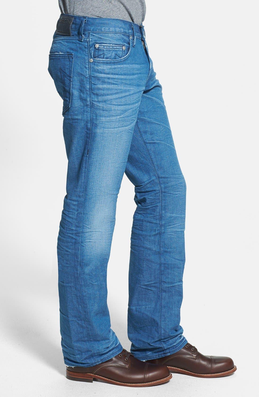 Alternate Image 3  - True Religion Brand Jeans 'Bobby' Straight Leg Jeans (Azql Blue Caps)