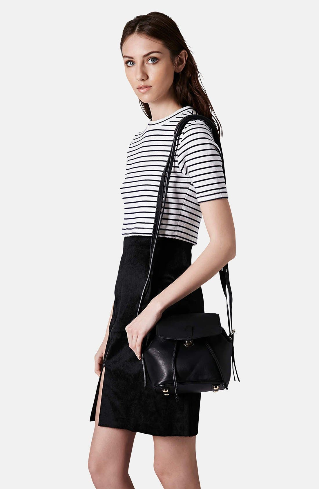 Alternate Image 2  - Topshop Leather Convertible Crossbody Bag