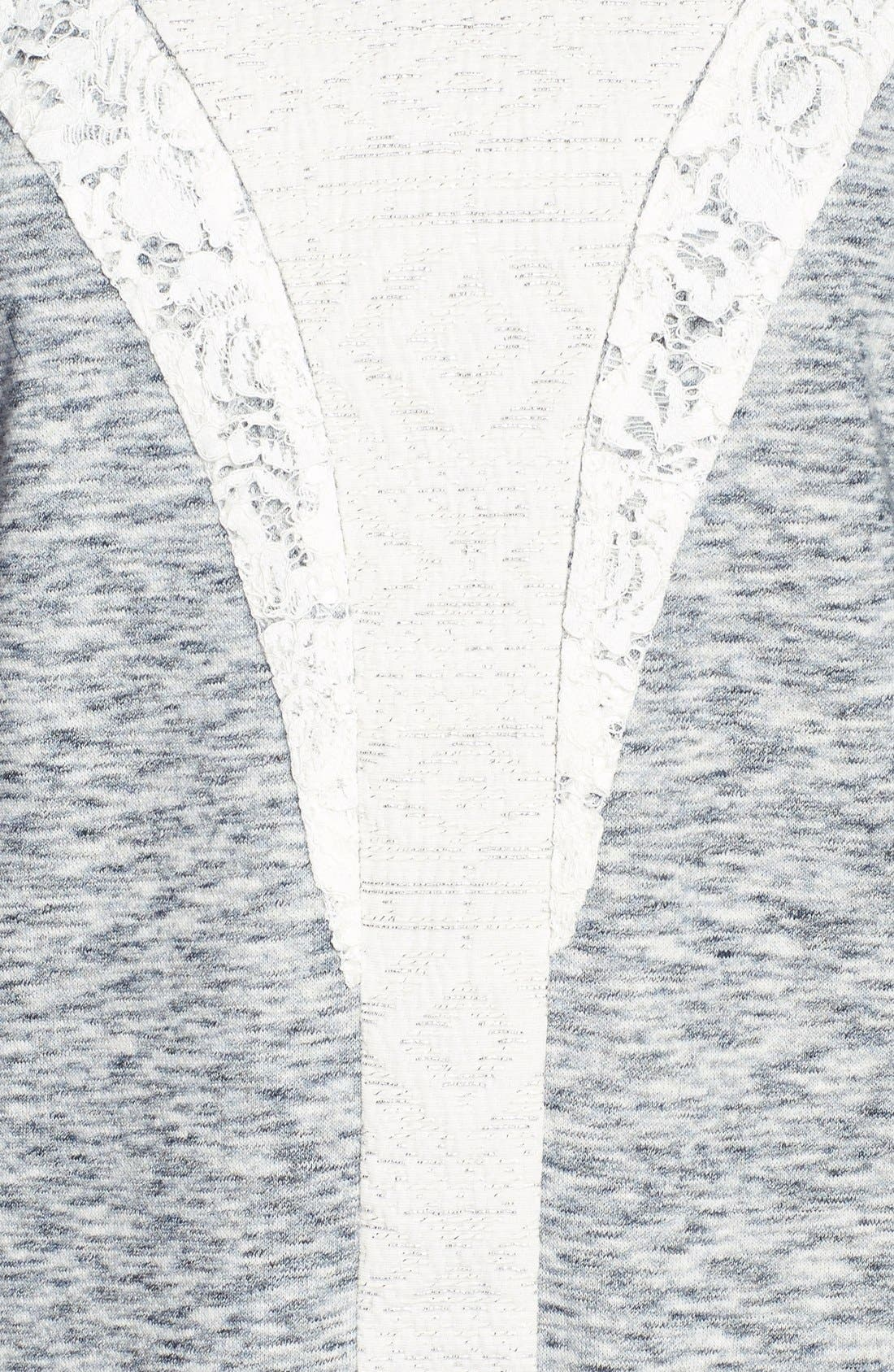 Alternate Image 3  - Rebecca Taylor Lace Insert Sweatshirt