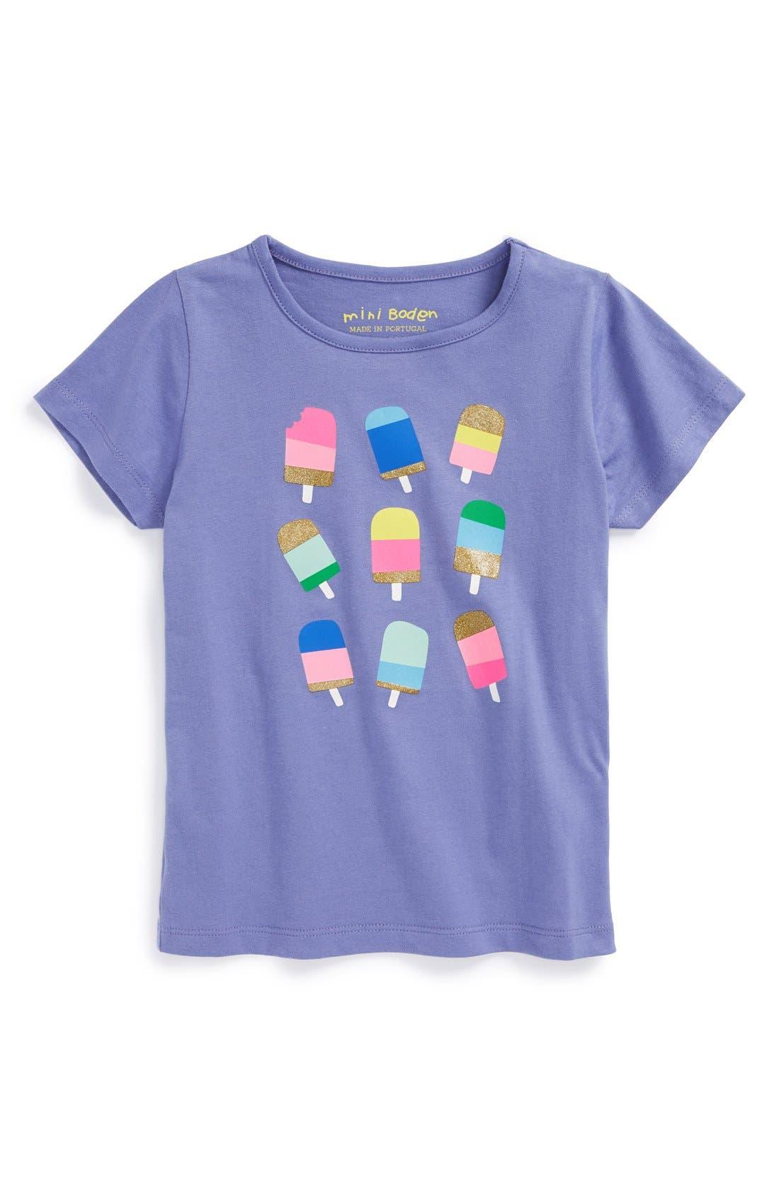 Main Image - Mini Boden Cap Sleeve Tee (Toddler Girls, Little Girls & Big Girls)