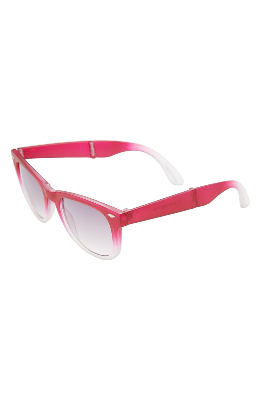 Alternate Image 1 Selected - Icon Eyewear 75mm Foldable Sunglasses (Girls)
