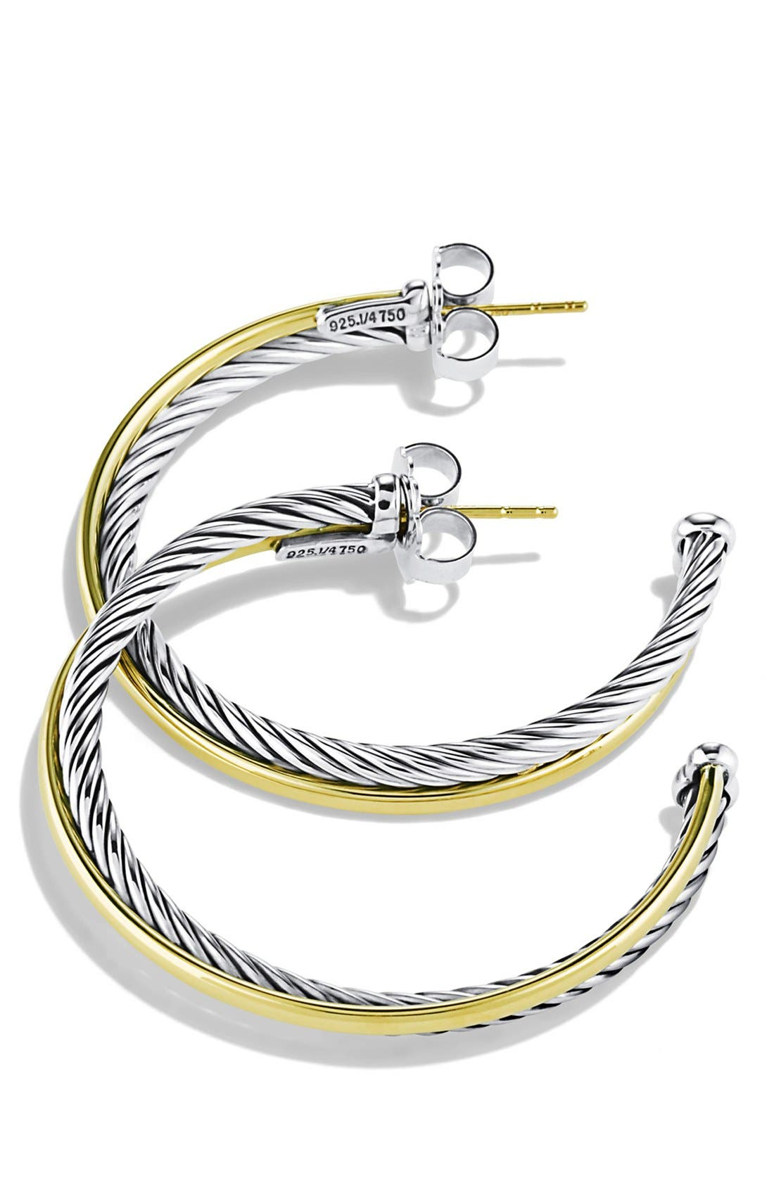 'Crossover' Extra-Large Hoop Earrings with Gold,                             Alternate thumbnail 2, color,                             Two Tone