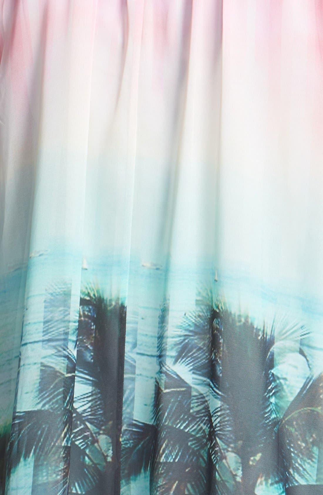 Alternate Image 3  - Ted Baker London 'Palm Tree Paradise' Print Dress