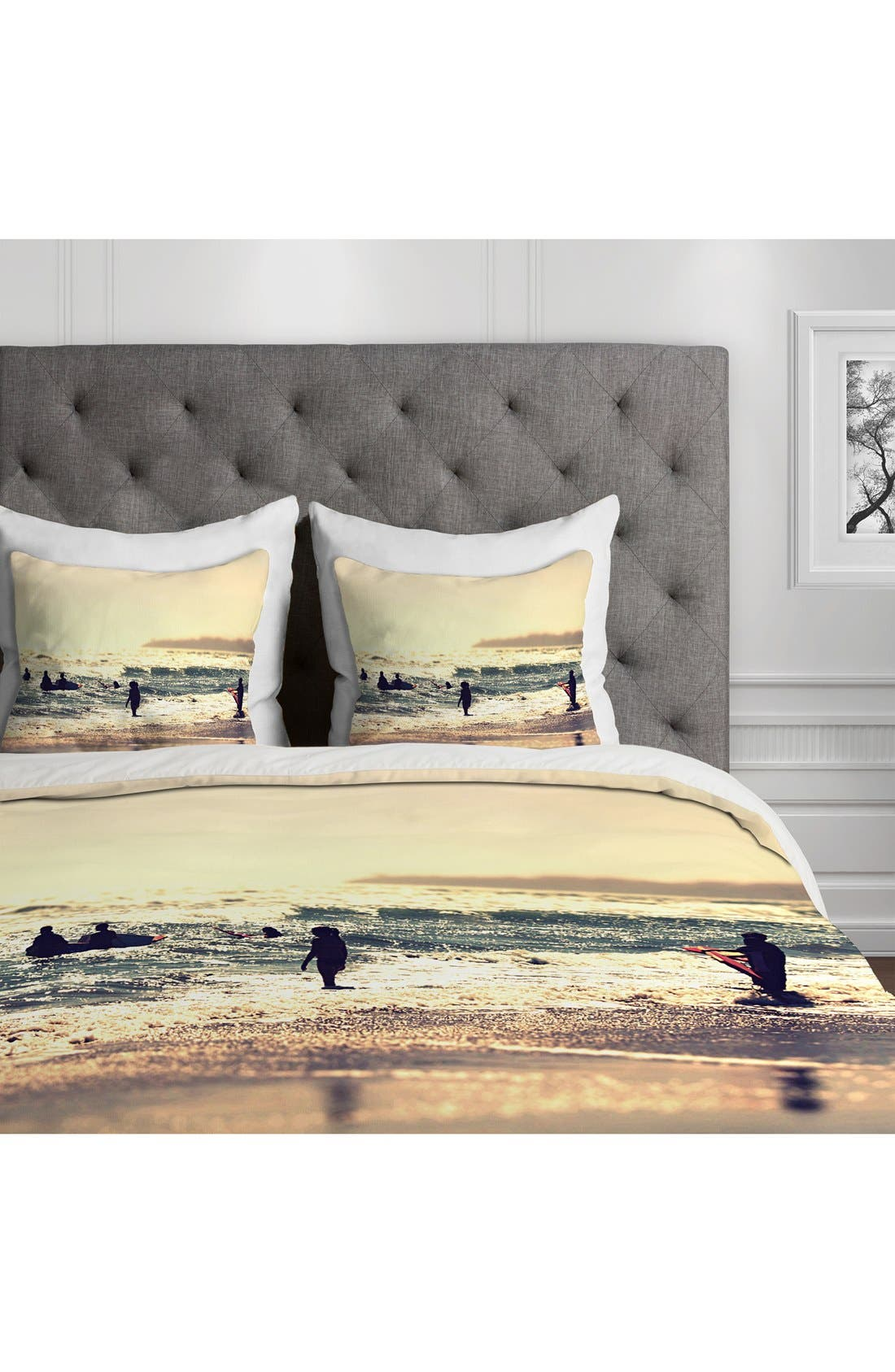 Alternate Image 2  - DENY Designs 'Sunset Surfers' Duvet Cover Set