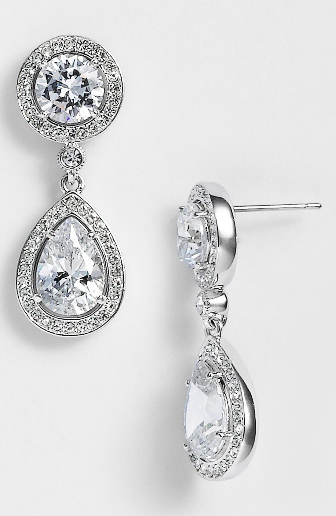 Alternate Image 1 Selected - Nadri Crystal & Cubic Zirconia Drop Earrings (Nordstrom Exclusive)