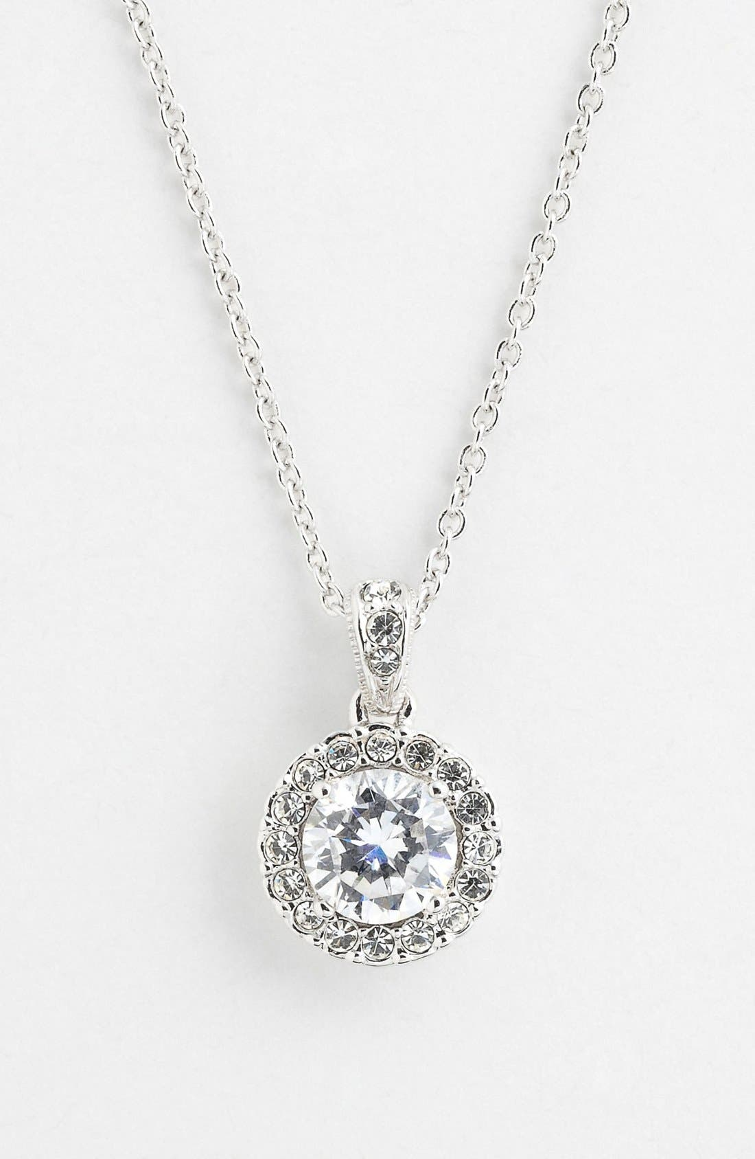 Main Image - Nadri Framed Round Cubic Zirconia Necklace (Nordstrom Exclusive)