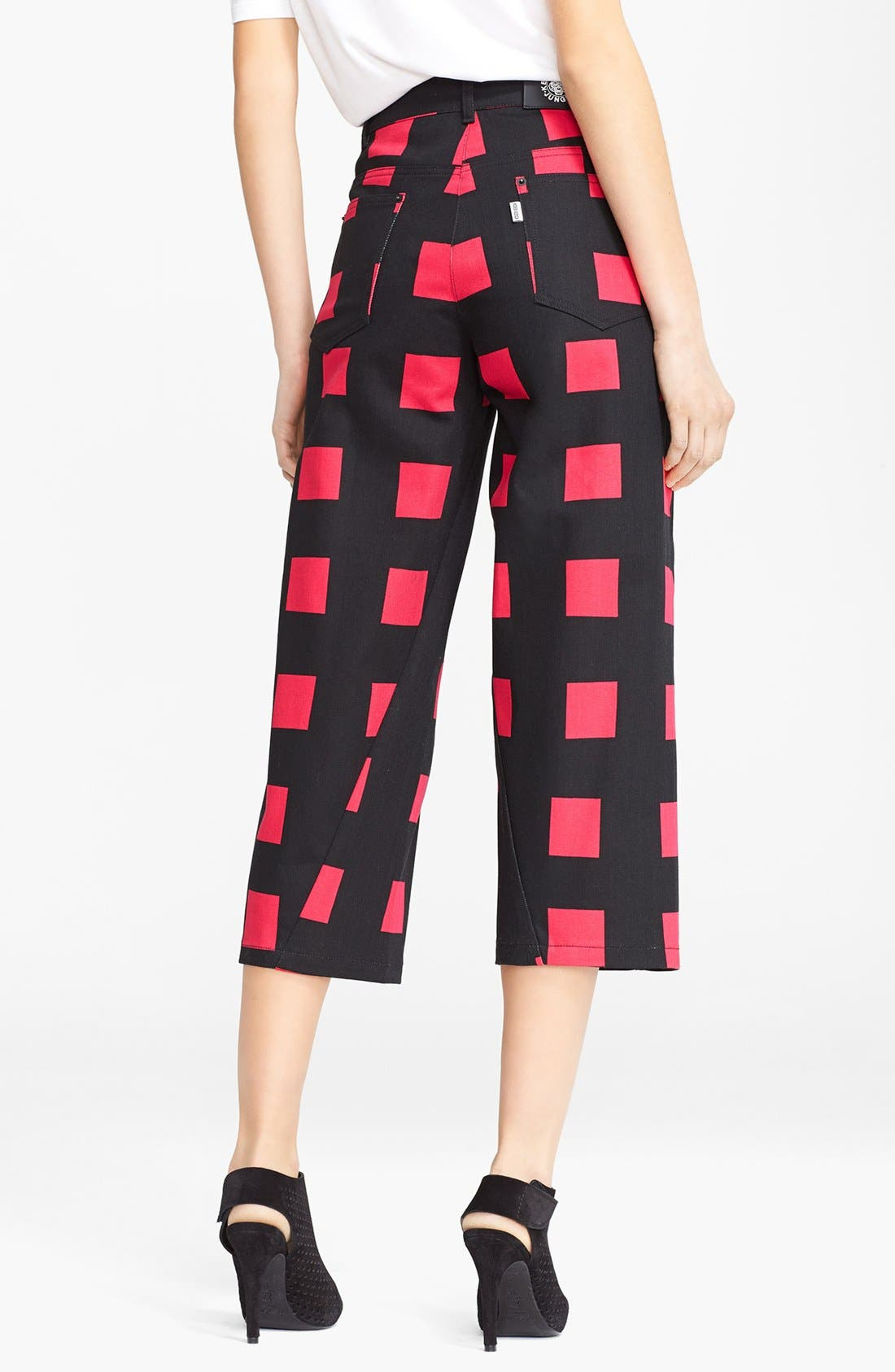 Alternate Image 2  - KENZO Square Print Crop Jeans