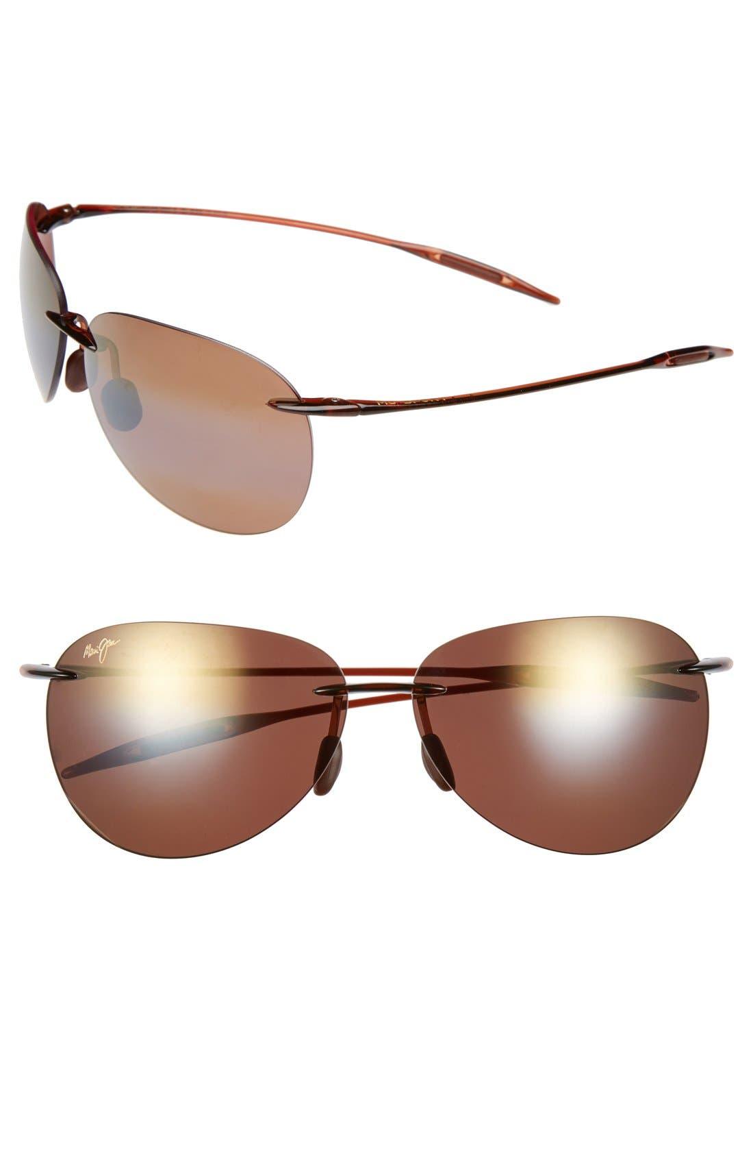 MAUI JIM Sugar Beach 62mm PolarizedPlus2<sup>®</sup> Rimless Sunglasses