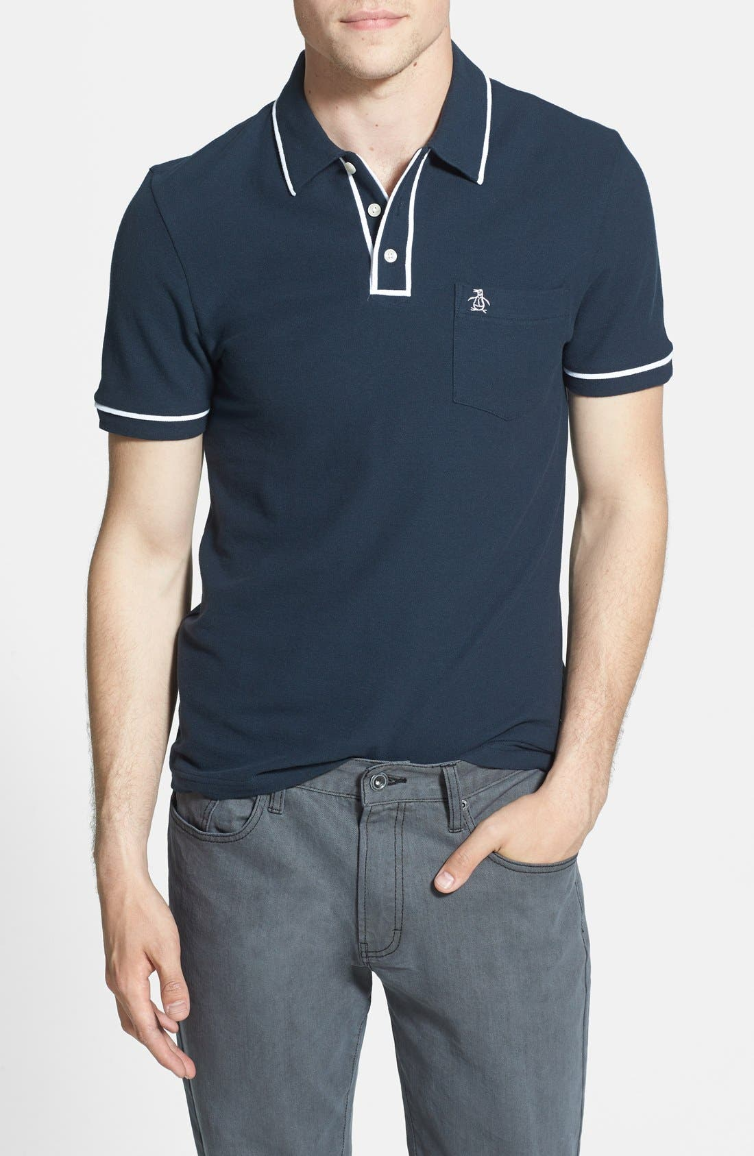 Main Image - Original Penguin 'Earl' Piqué Polo