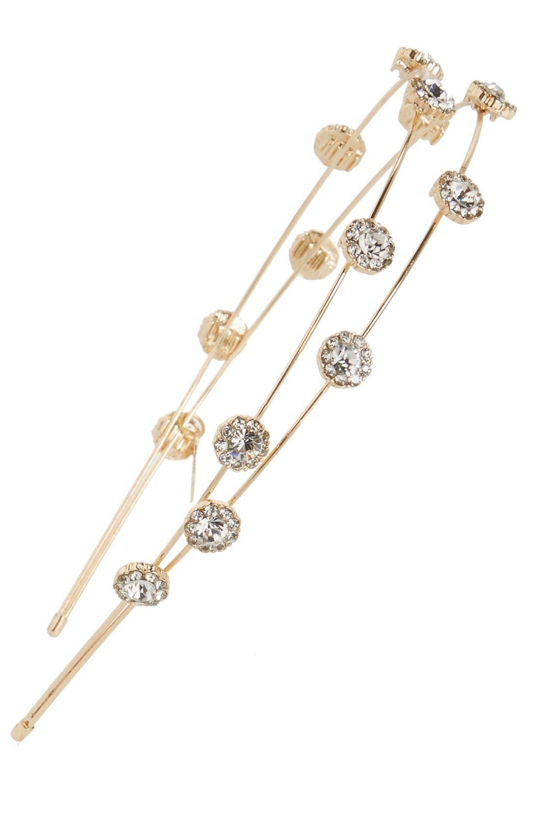 Main Image - Tasha 'Double Trouble' Floral Crystal Headband