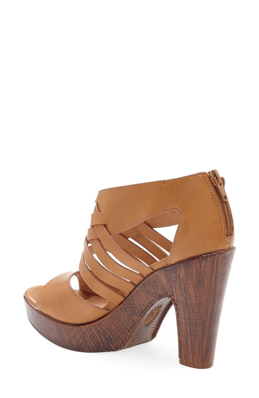 'Ohanna' Leather Sandal,                             Alternate thumbnail 2, color,                             Luggage