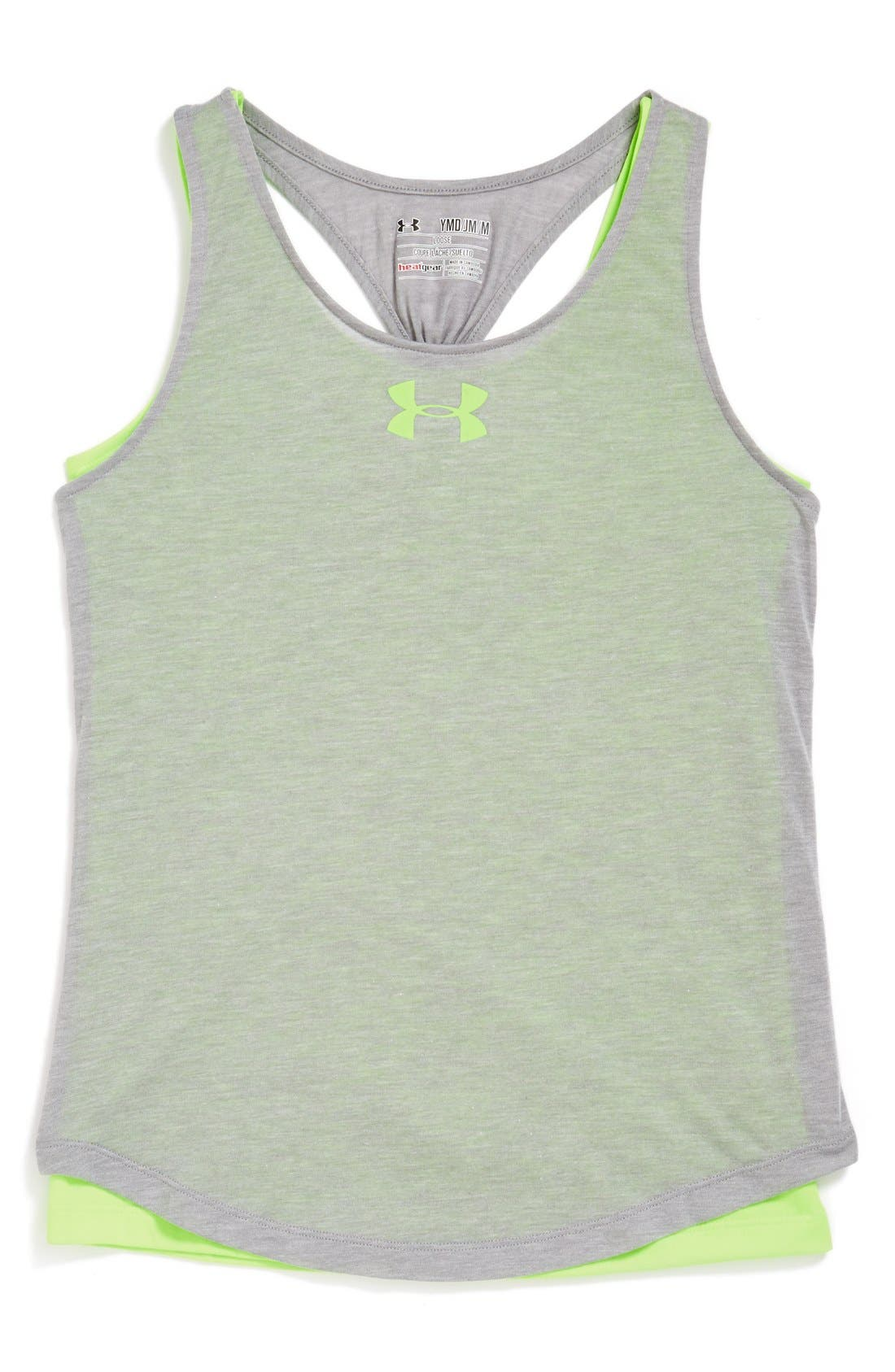 Alternate Image 1 Selected - Under Armour 'Double the Fun' Tank Top (Big Girls)