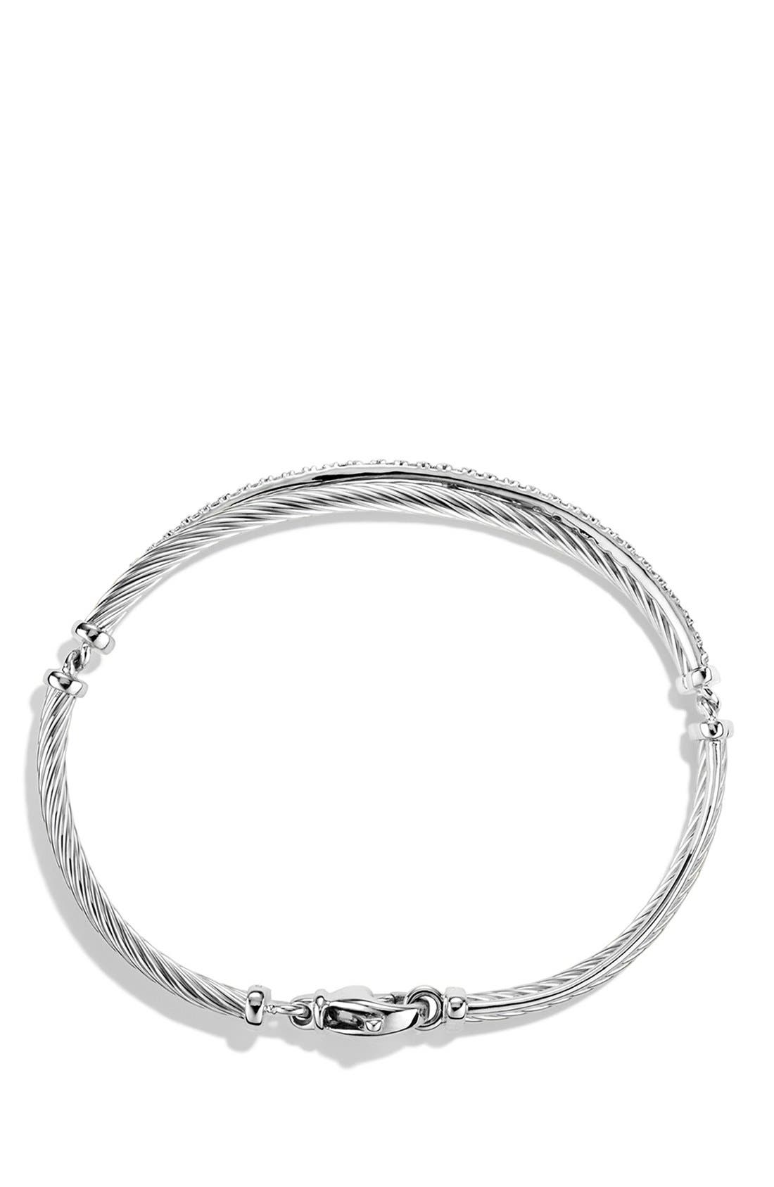 Alternate Image 2  - David Yurman 'Crossover' Bracelet with Diamonds