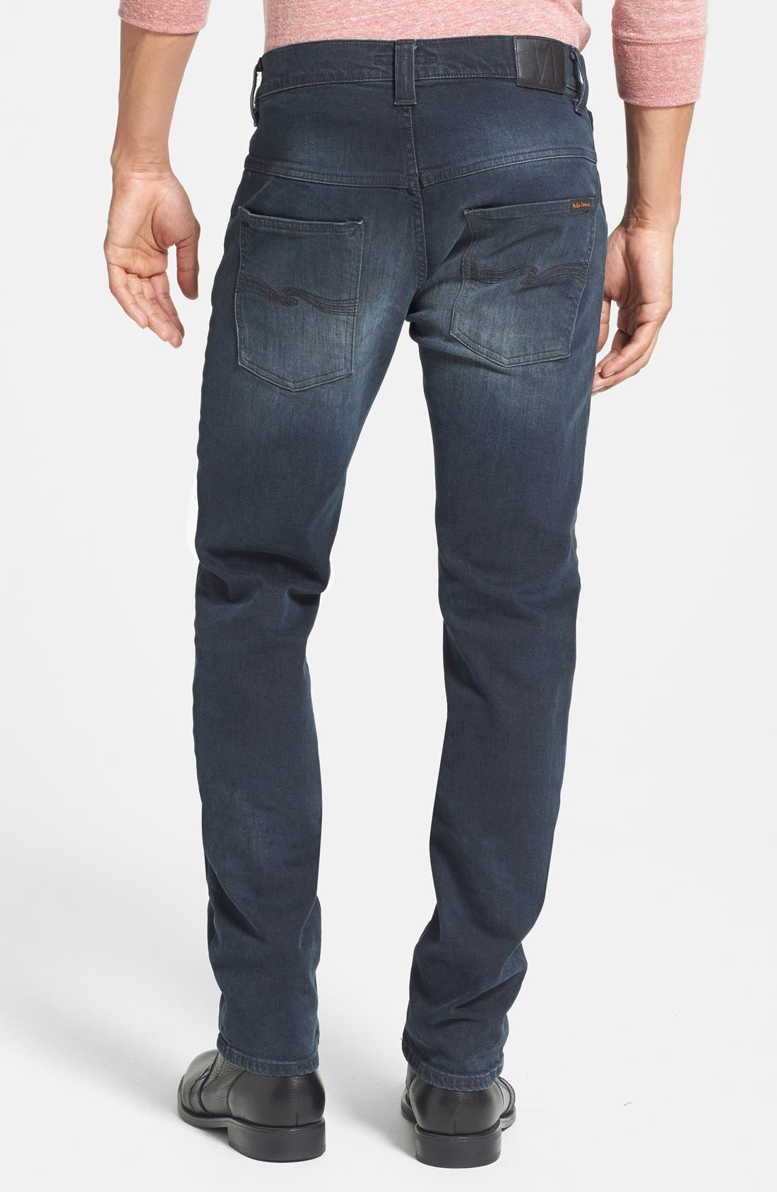 Alternate Image 2  - Nudie Jeans 'Thin Finn' Skinny Fit Jeans (Organic Black Grey)