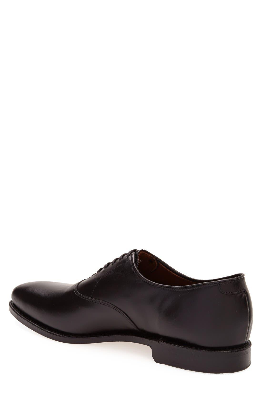 Carlyle Plain Toe Oxford,                             Alternate thumbnail 2, color,                             Black Leather