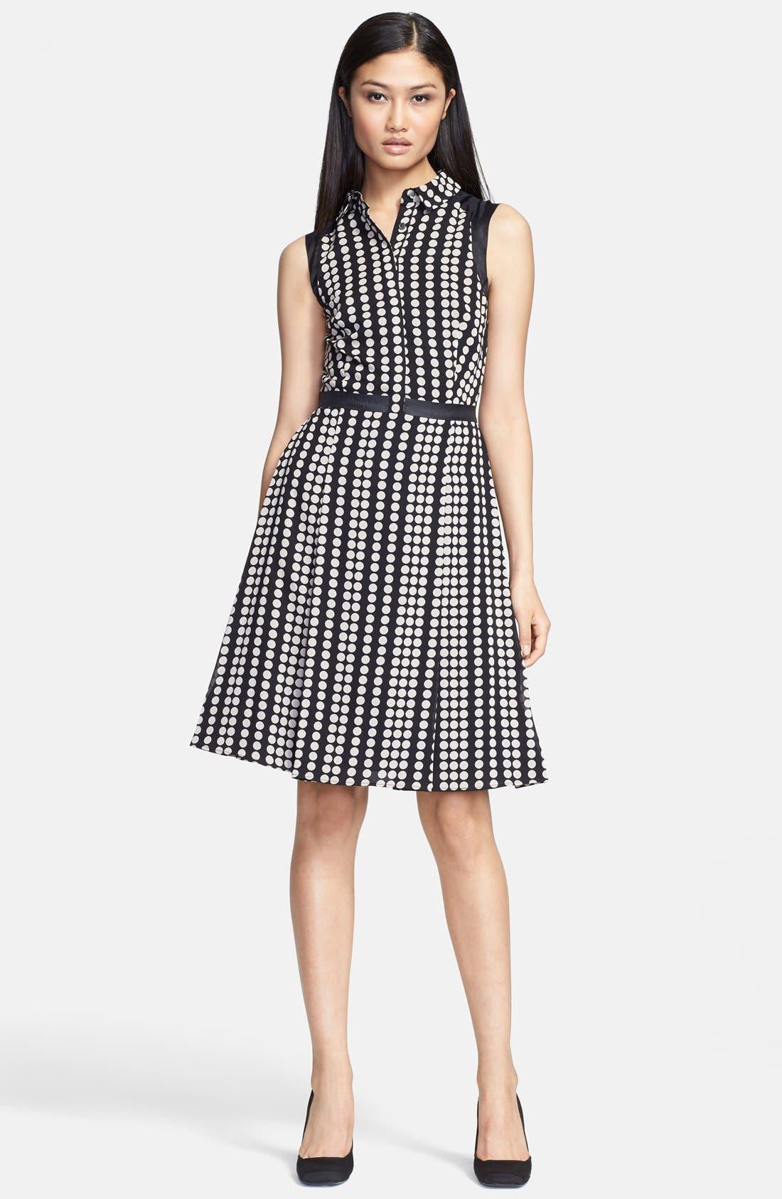 Main Image - Tory Burch 'Katy' Stretch Silk Fit & Flare Dress
