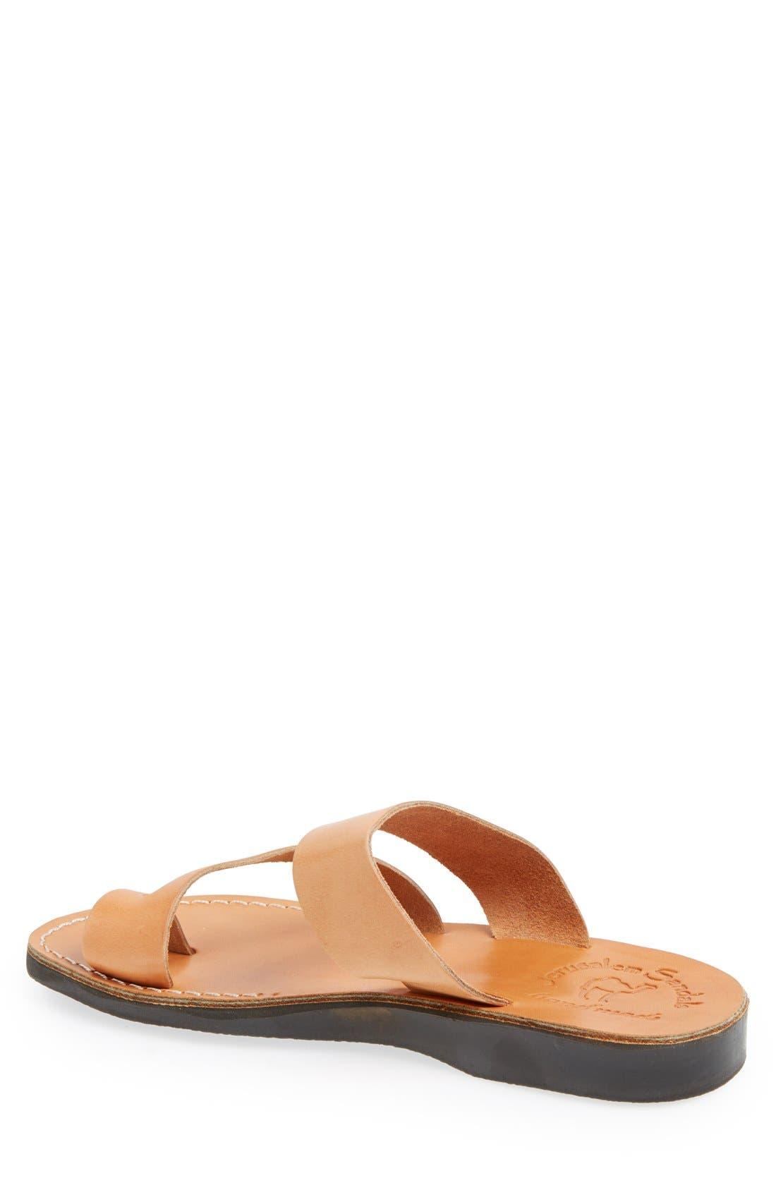 'Zohar' Leather Sandal,                             Alternate thumbnail 2, color,                             Tan