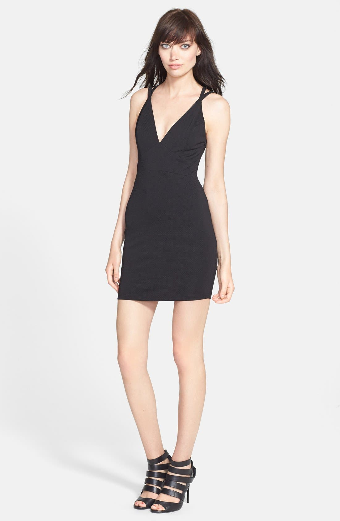 Alternate Image 1 Selected - ASTR Textured Body-Con Dress