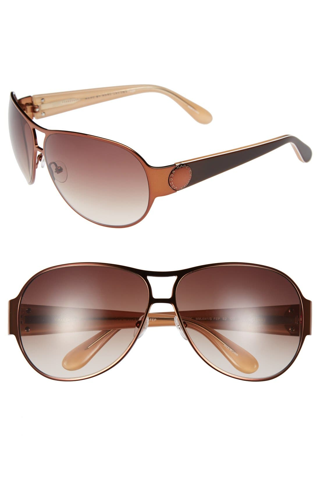 Main Image - MARC BY MARC JACOBS 64mm Aviator Sunglasses